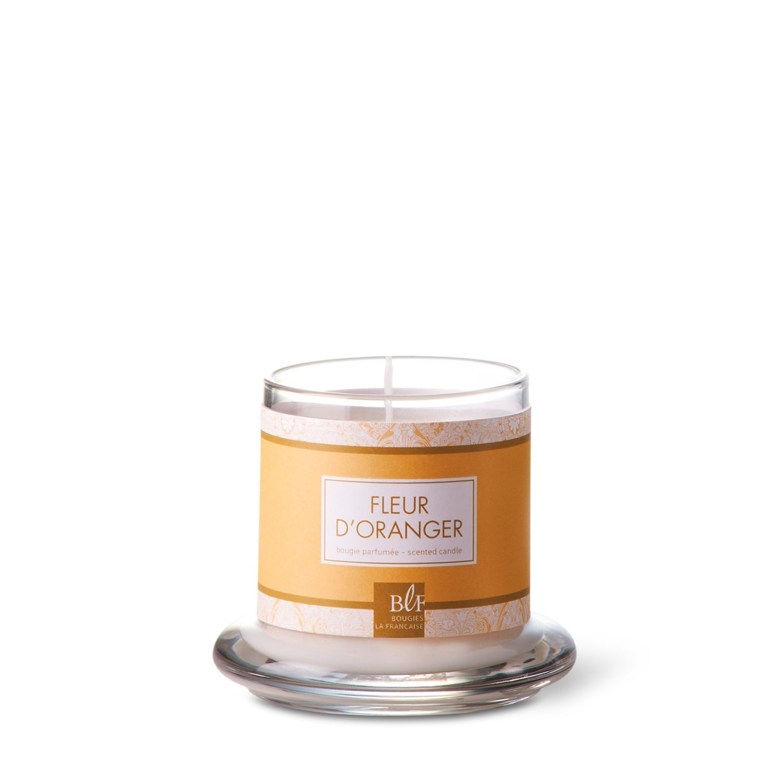 bougies la fran aise fleur d 39 oranger bougie parfum e sous cloche orange brandalley. Black Bedroom Furniture Sets. Home Design Ideas