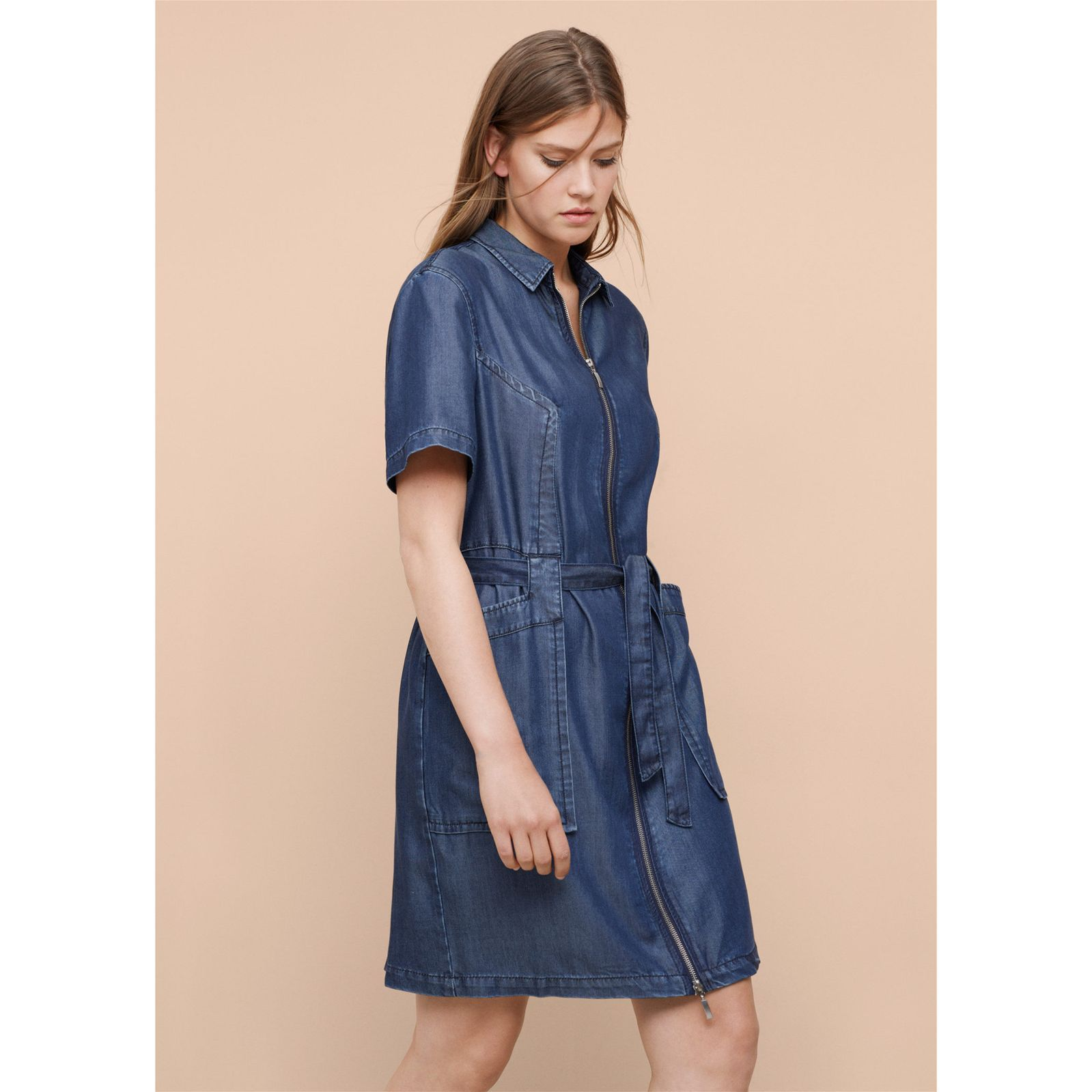 Violeta by mango robe en jean bleu brandalley for Robe jean mango