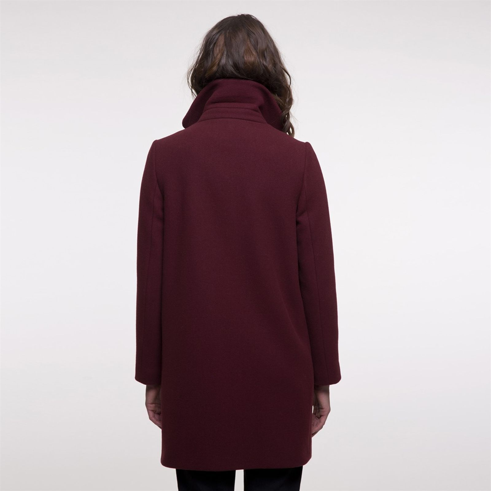 And Manteau Long Bordeaux Laine En Coat Mi Trench Brandalley AEwxOHqdA