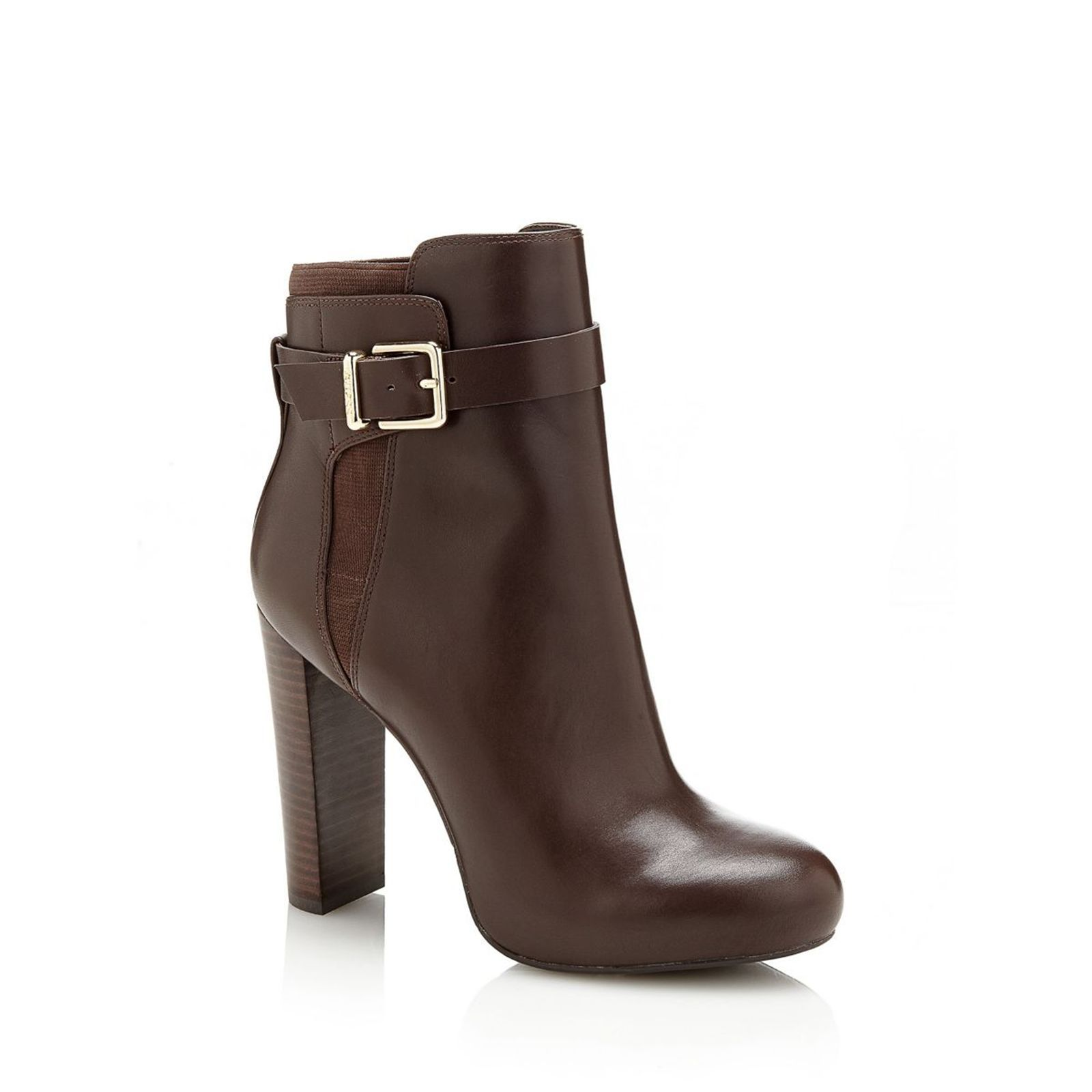Guess Denisa - Bottines en cuir - marron