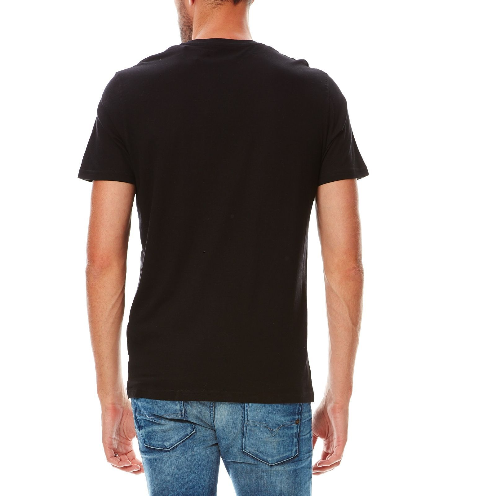 celio t shirt en coton noir brandalley. Black Bedroom Furniture Sets. Home Design Ideas