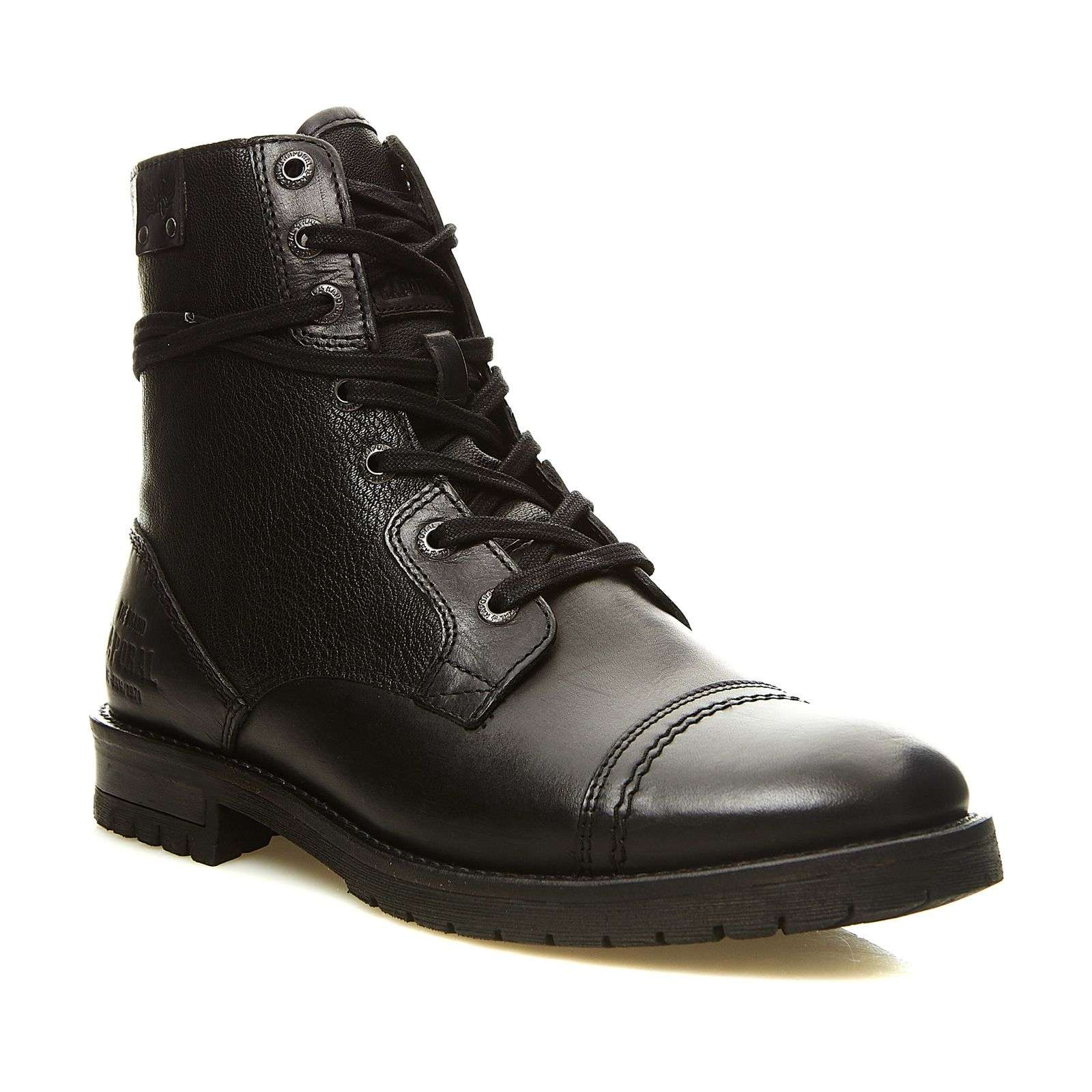 kaporal shoes zarvey boots en cuir noir brandalley