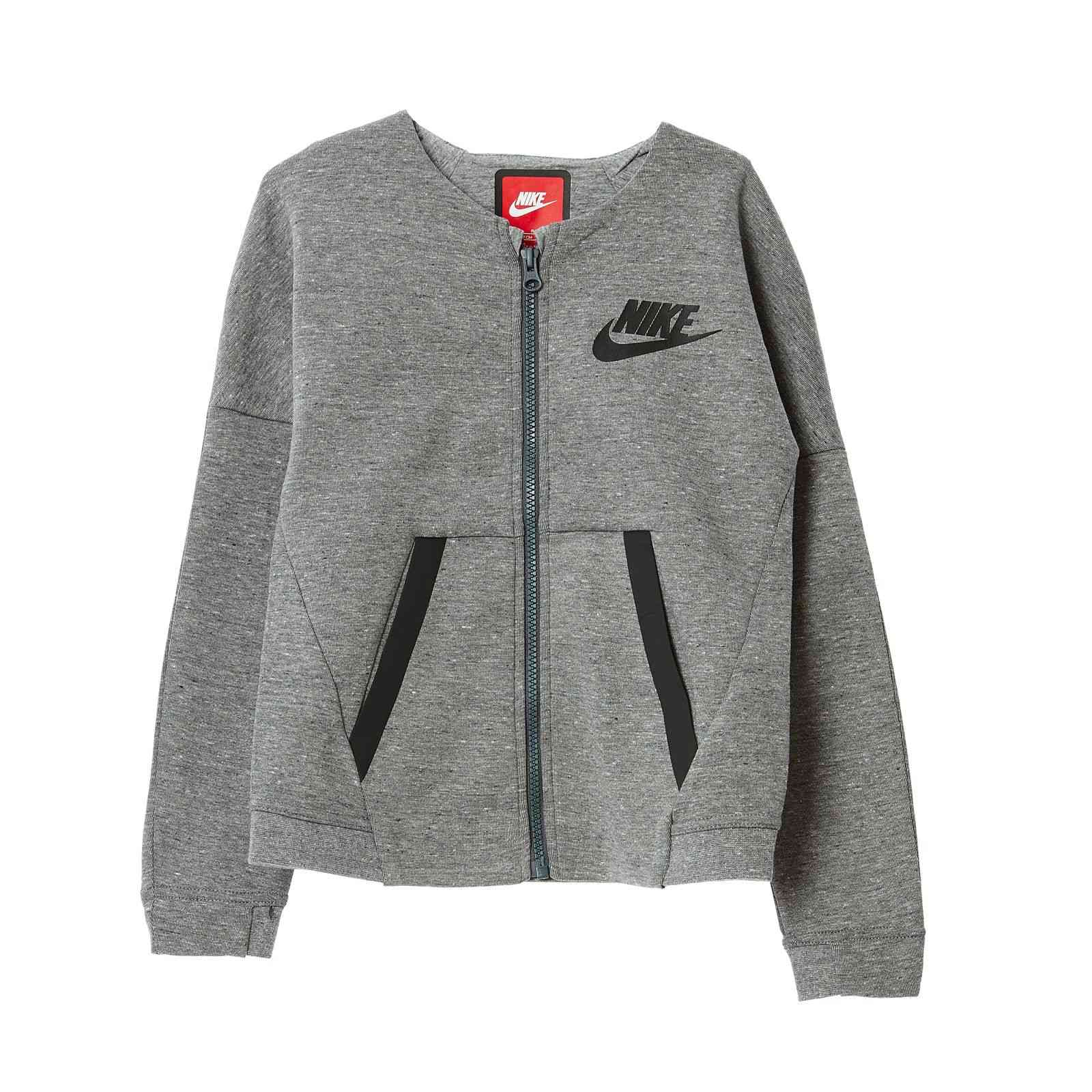 nike sweat zipp gris brandalley. Black Bedroom Furniture Sets. Home Design Ideas