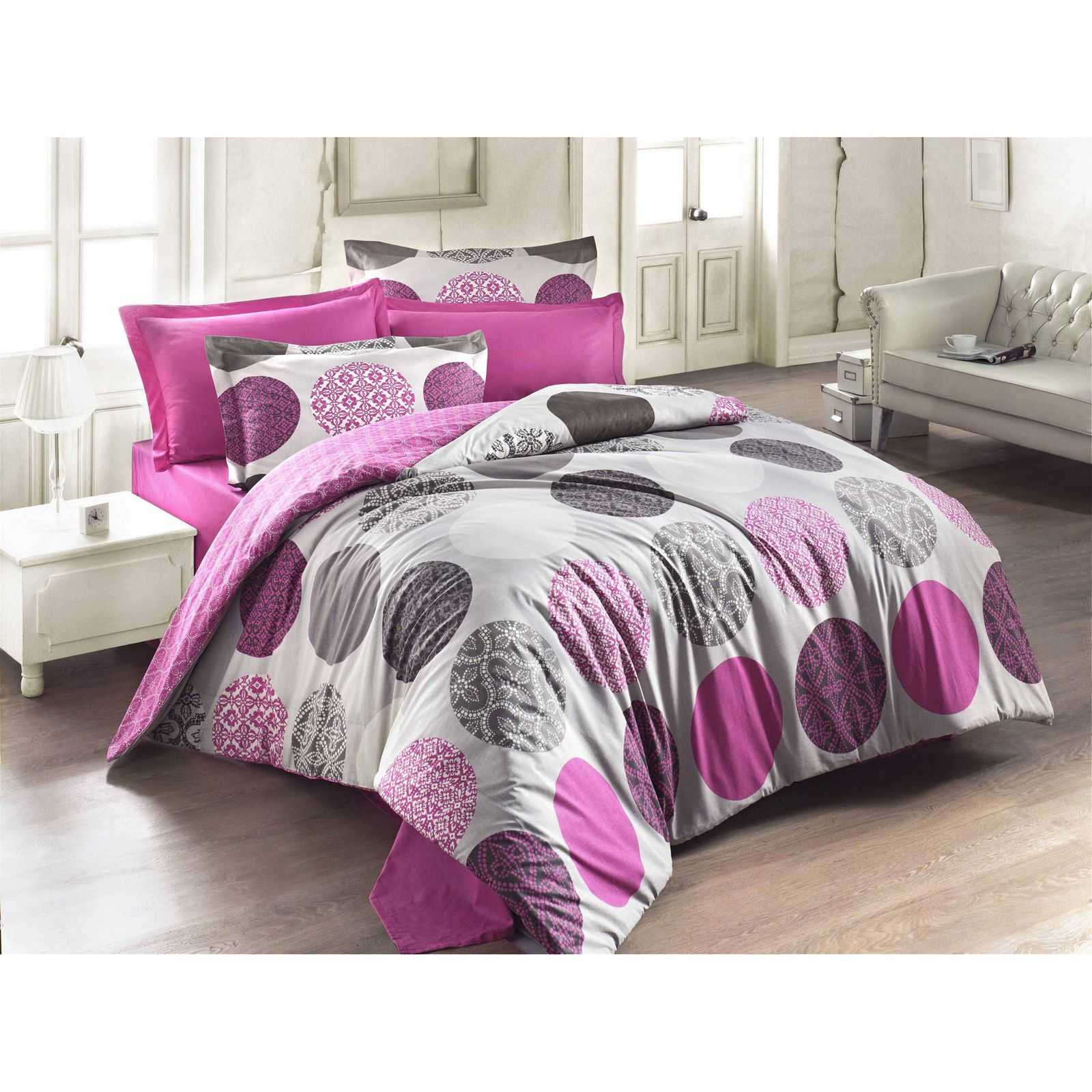 eponj home parure de lit fuchsia brandalley. Black Bedroom Furniture Sets. Home Design Ideas