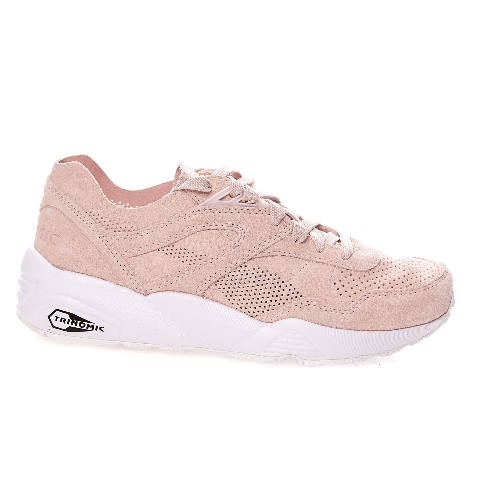 puma trinomic grise et rose