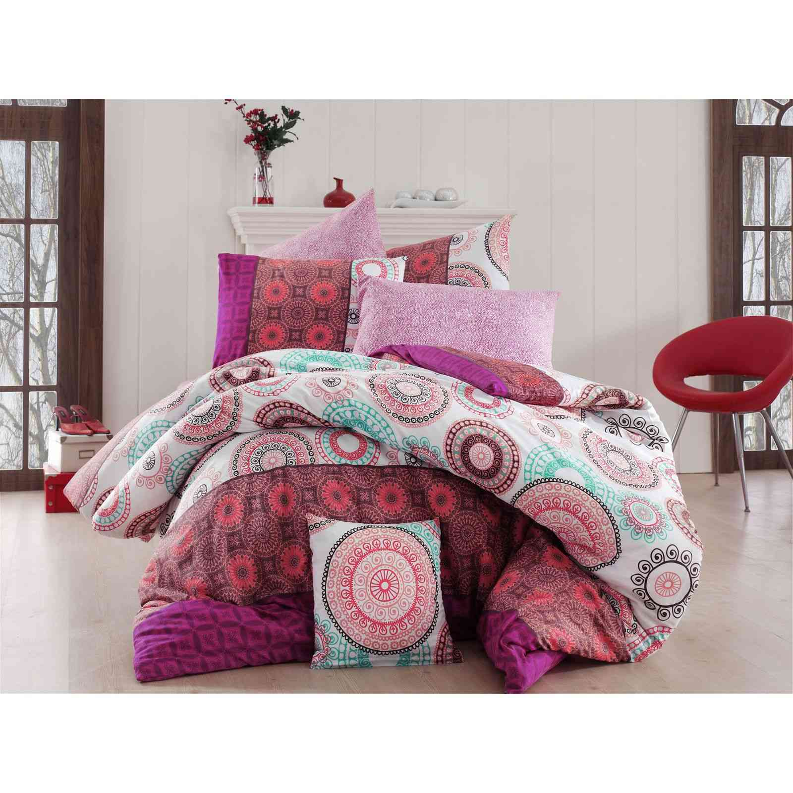 nazenin home parure de lit rose brandalley. Black Bedroom Furniture Sets. Home Design Ideas