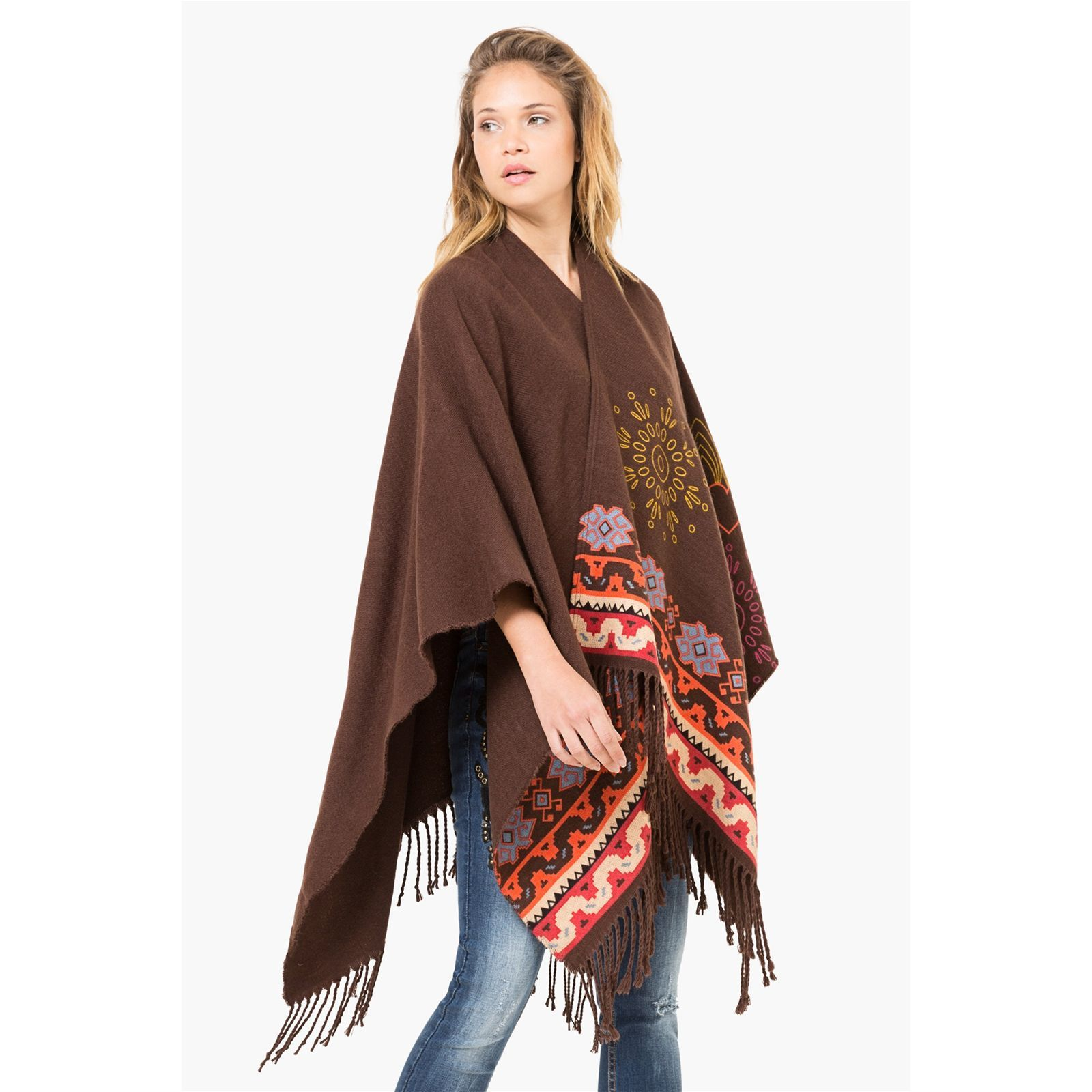 Desigual Dakota - Poncho - marron