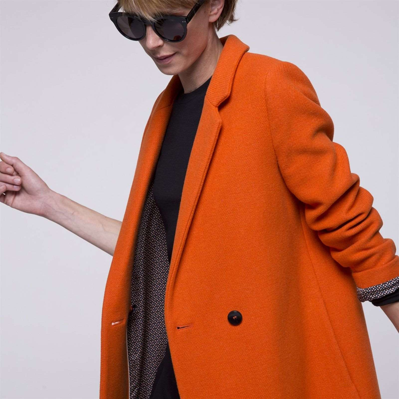 Trench and coat Manteau en laine mélangée - orange   BrandAlley c93102269d97