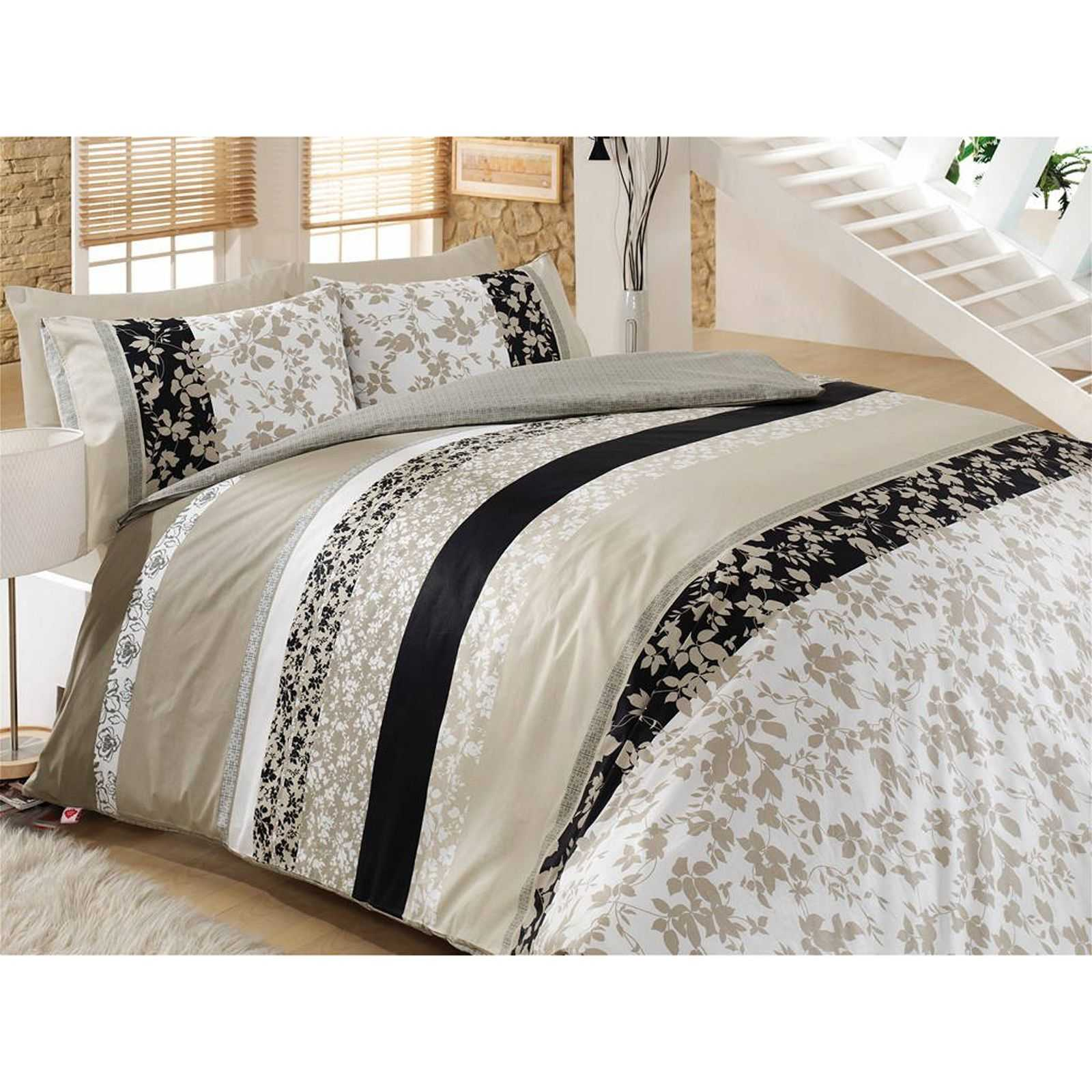 cotton box parure de lit taupe brandalley. Black Bedroom Furniture Sets. Home Design Ideas