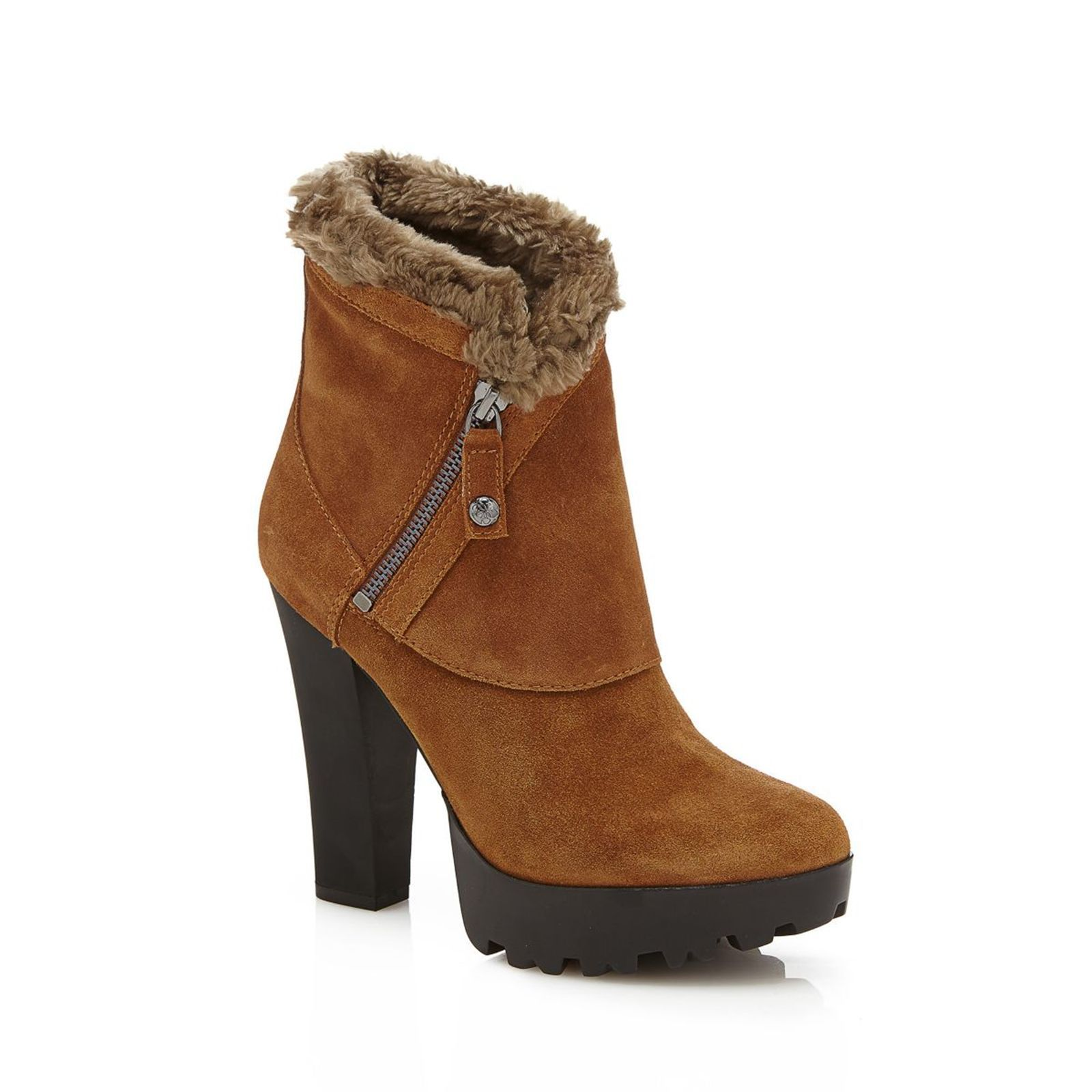 Guess Clanci - Bottines en cuir - marron