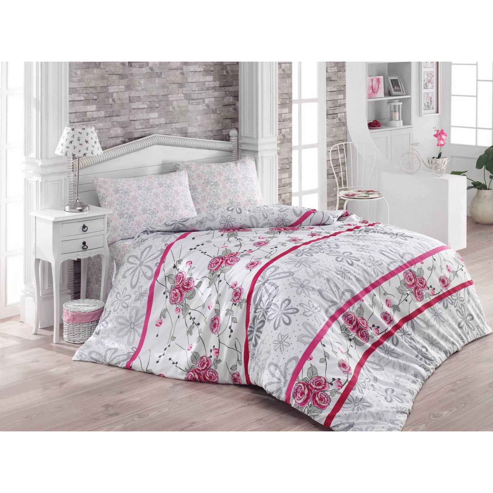 victoria home parure de lit fuchsia brandalley. Black Bedroom Furniture Sets. Home Design Ideas