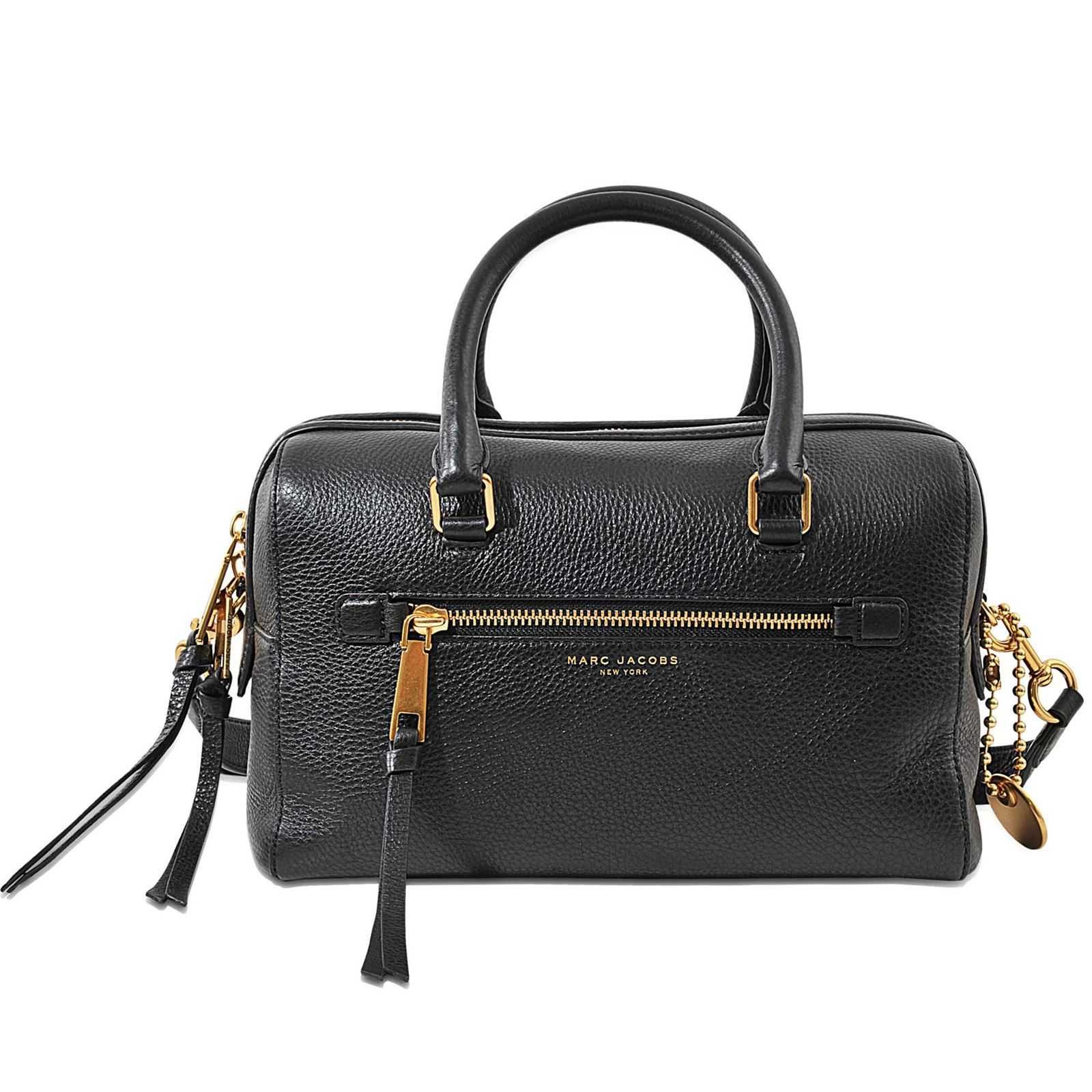 Marc Jacobs Bauletto - Sac doctor bag en cuir - noir   BrandAlley 4af7d5091fe2