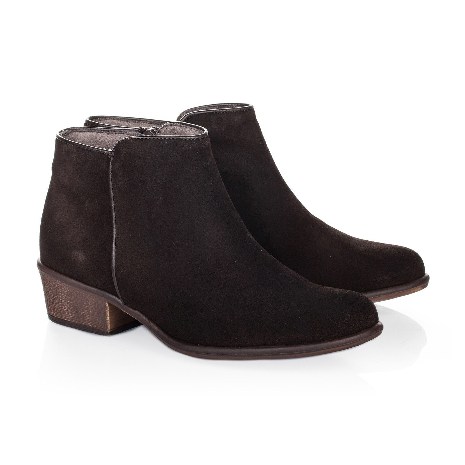 Maria Barcelo Bottines en cuir - noir