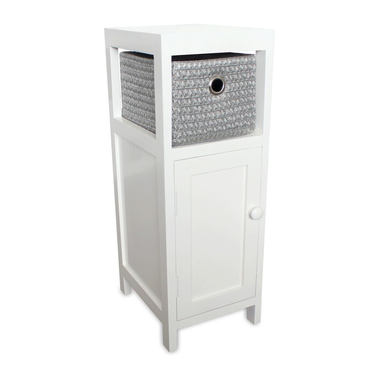 potiron tidy meuble de rangement blanc brandalley. Black Bedroom Furniture Sets. Home Design Ideas