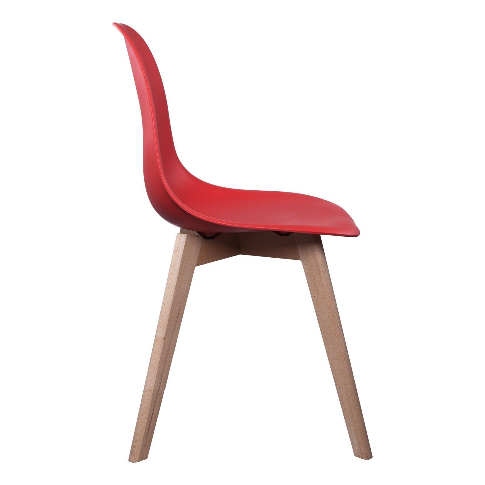 the home deco factory lot de 2 chaises scandinave rouge brandalley. Black Bedroom Furniture Sets. Home Design Ideas