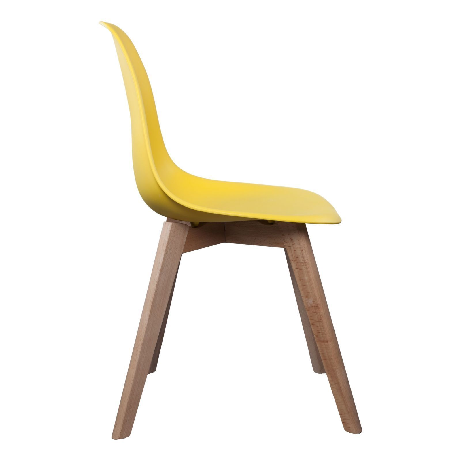 the home deco factory lot de 2 chaises scandinave jaune brandalley. Black Bedroom Furniture Sets. Home Design Ideas