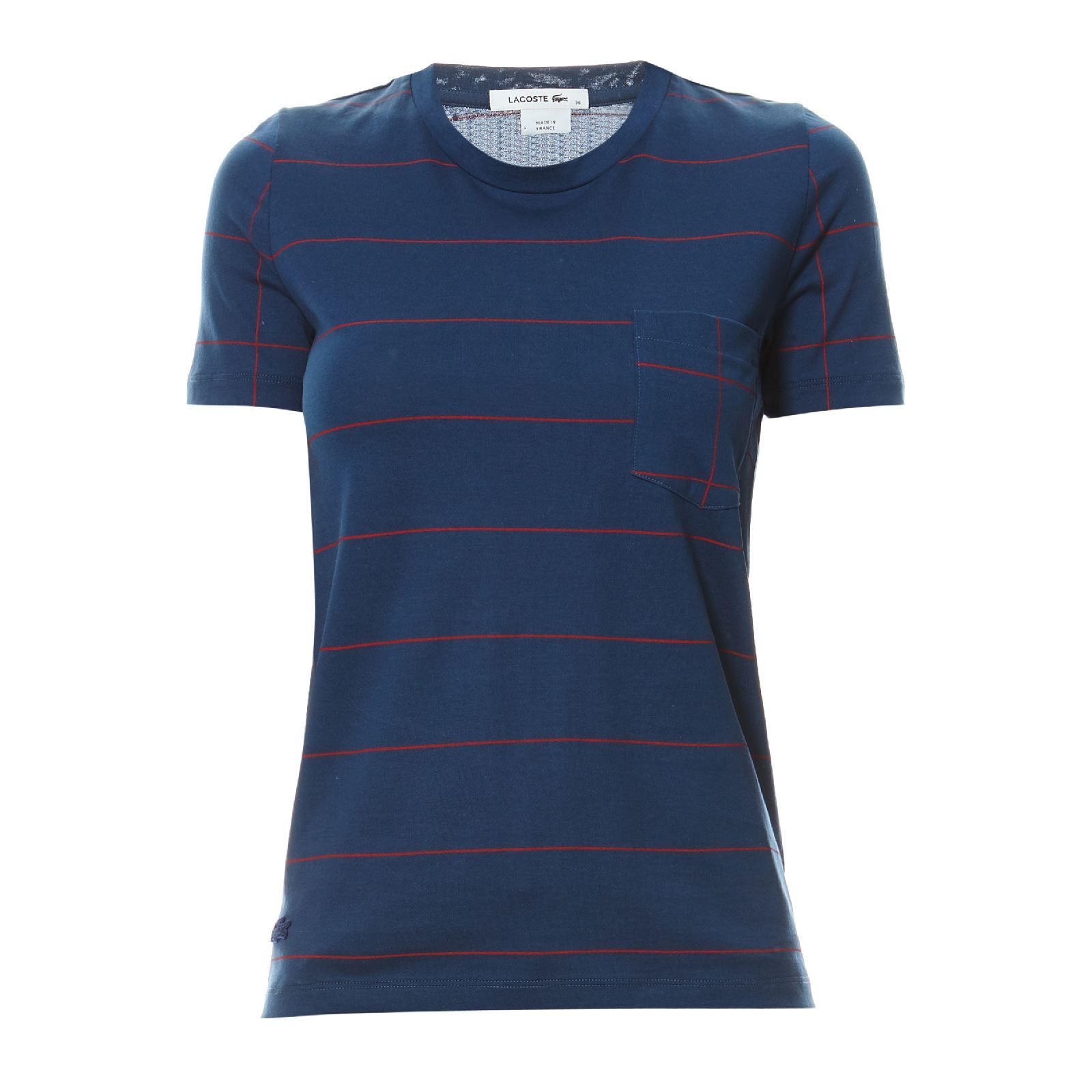 lacoste t shirt manches longues bleu marine brandalley. Black Bedroom Furniture Sets. Home Design Ideas