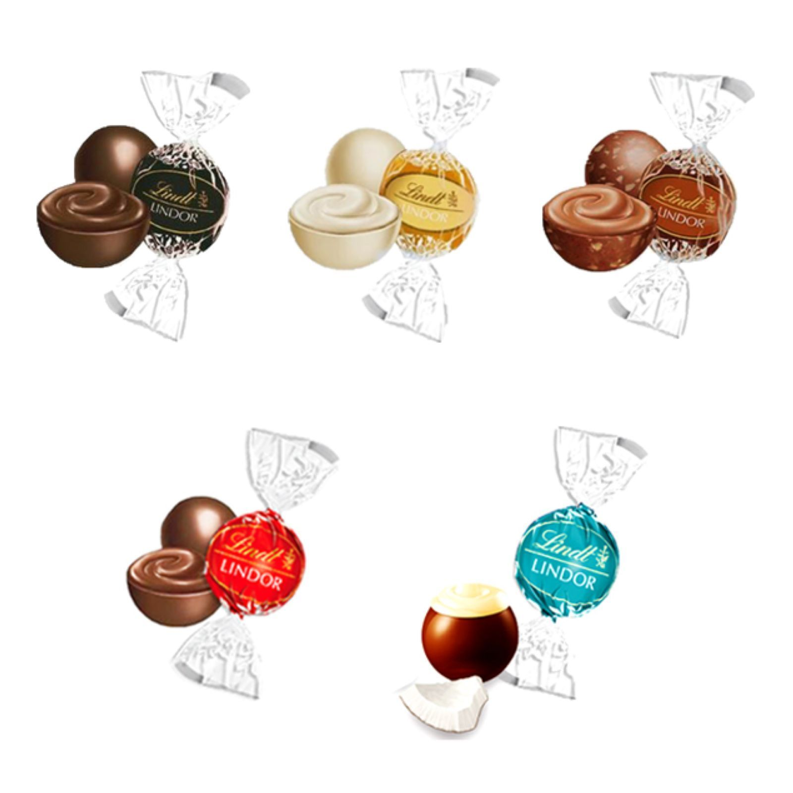 lindt lindor 500g assortiment bouch es de chocolat brandalley. Black Bedroom Furniture Sets. Home Design Ideas