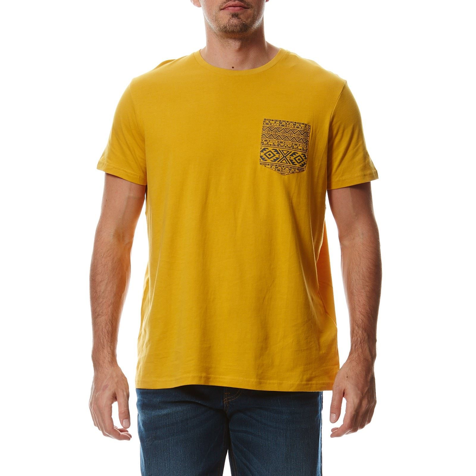celio t shirt en coton jaune brandalley. Black Bedroom Furniture Sets. Home Design Ideas