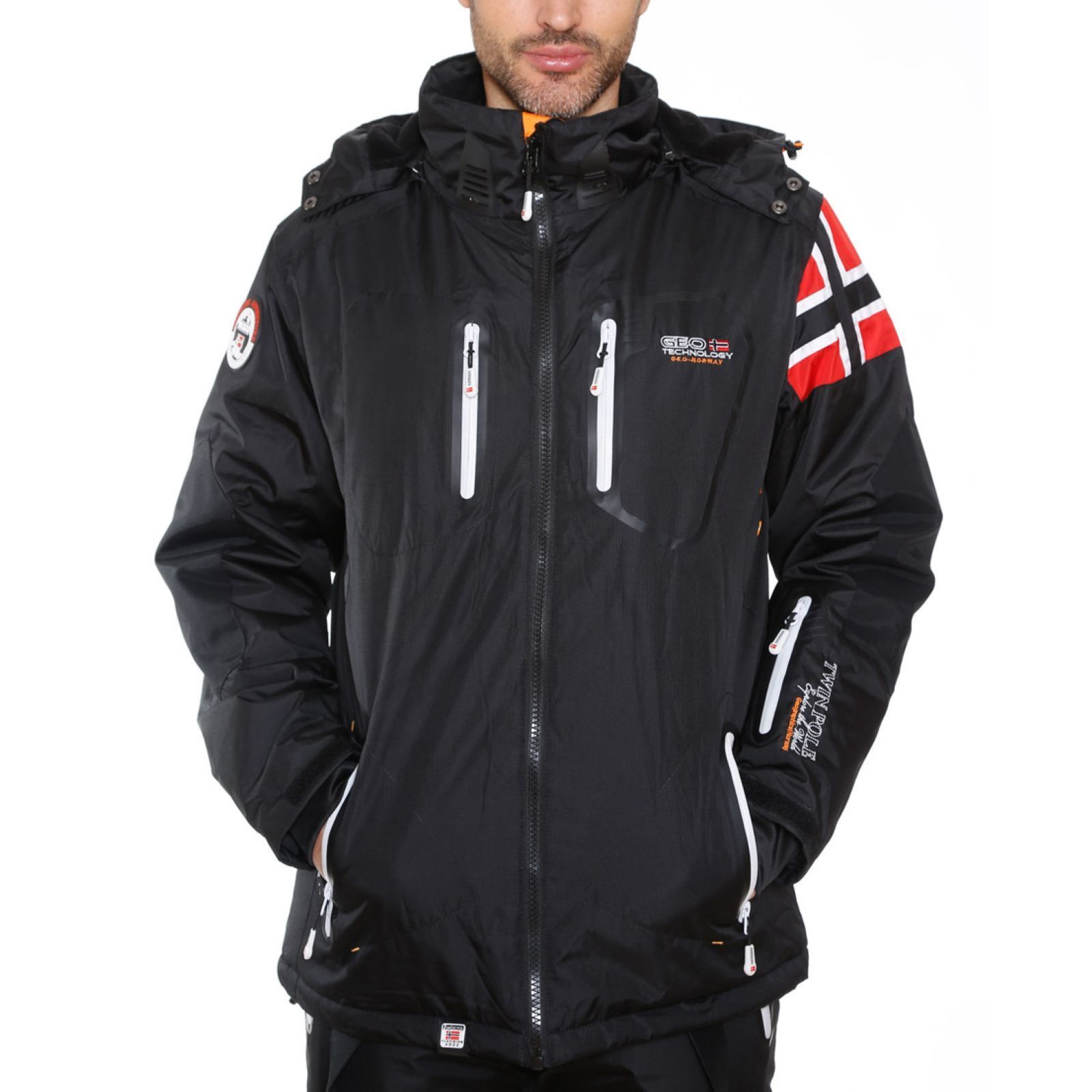 geographical norway warrior chaqueta de esqu negro brandalley. Black Bedroom Furniture Sets. Home Design Ideas