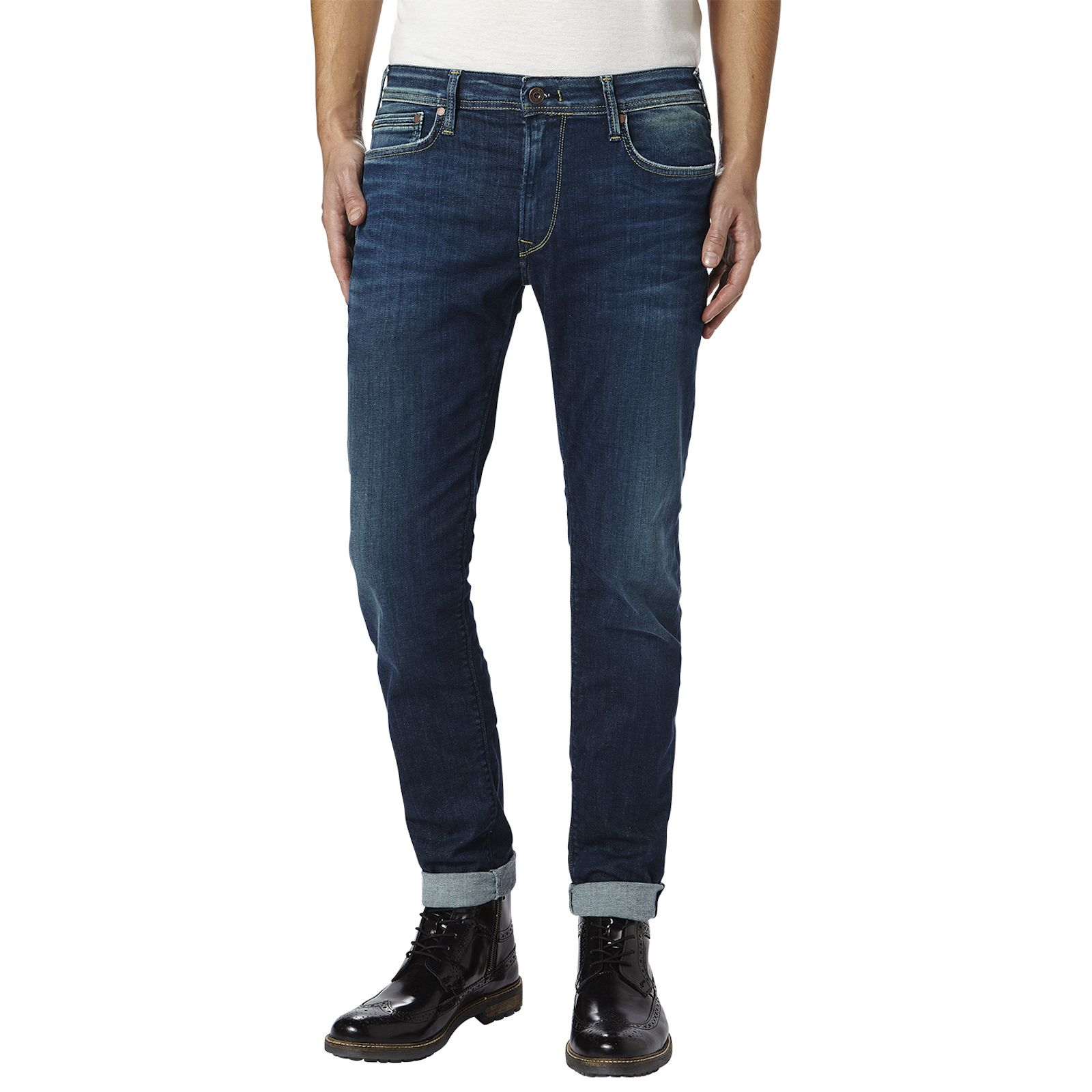 4a2594998fd Pepe Jeans London Stanley Powerflex - Jean regular - denim bleu