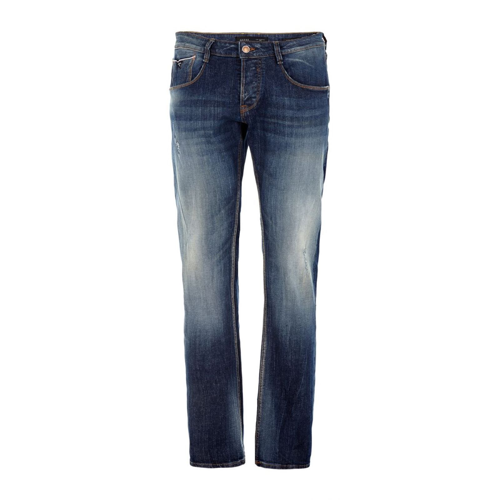 Guess Tapered - Jean slim - bleu