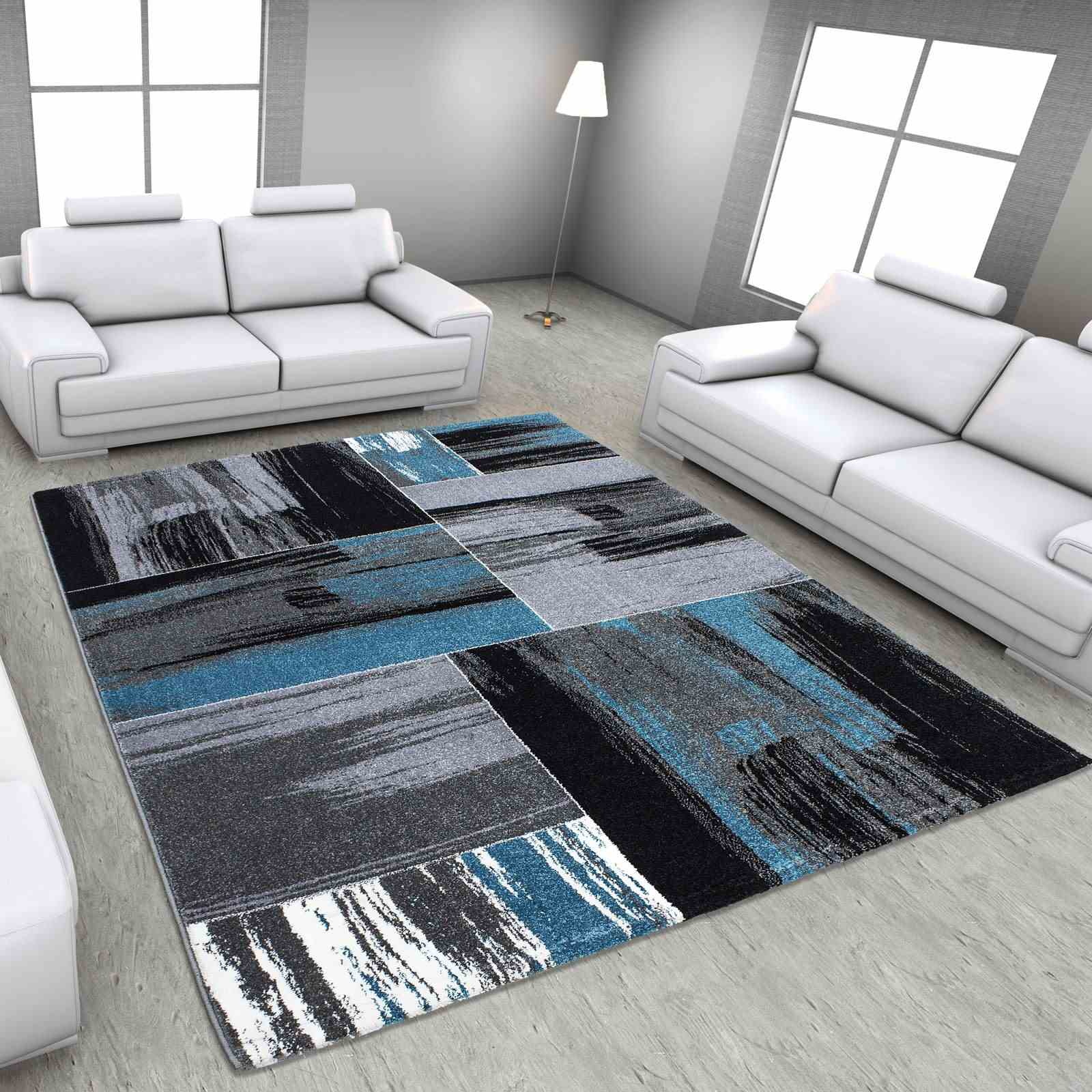 nazar moderne tapis bleu brandalley. Black Bedroom Furniture Sets. Home Design Ideas
