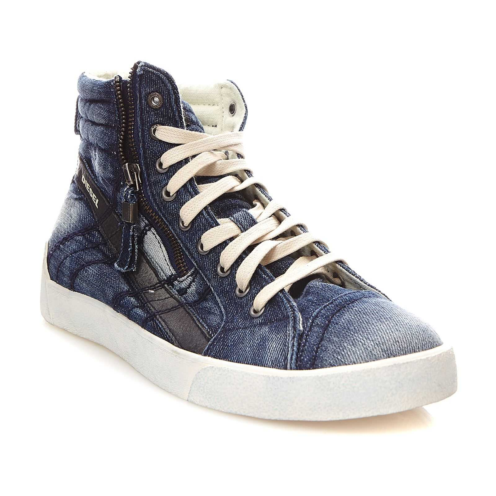Diesel D-String plus - Baskets montantes - denim bleu