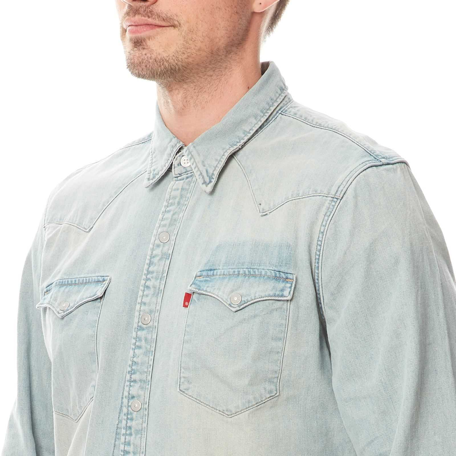 Brandalley Chemise Délavé Barstow Levi's Bleu Western En Jean OzgBy1ZUqw