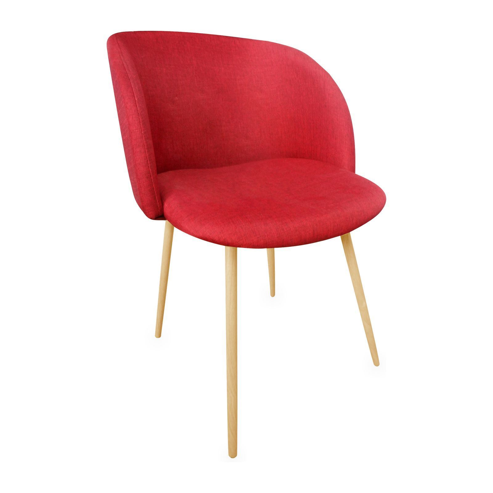 Potiron oslo chaise rouge brandalley for Chaise rouge