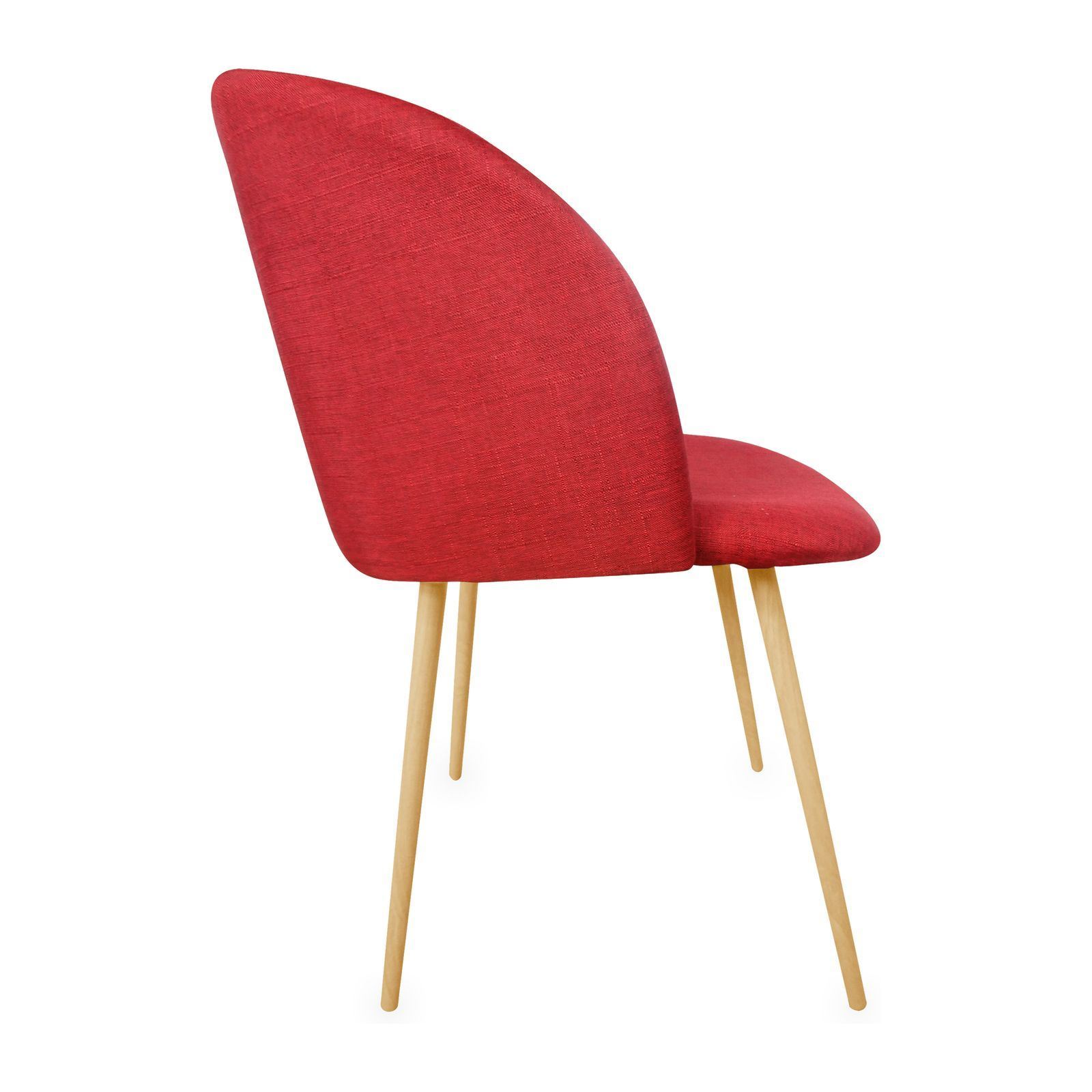 Potiron oslo chaise rouge brandalley for Chaise oslo