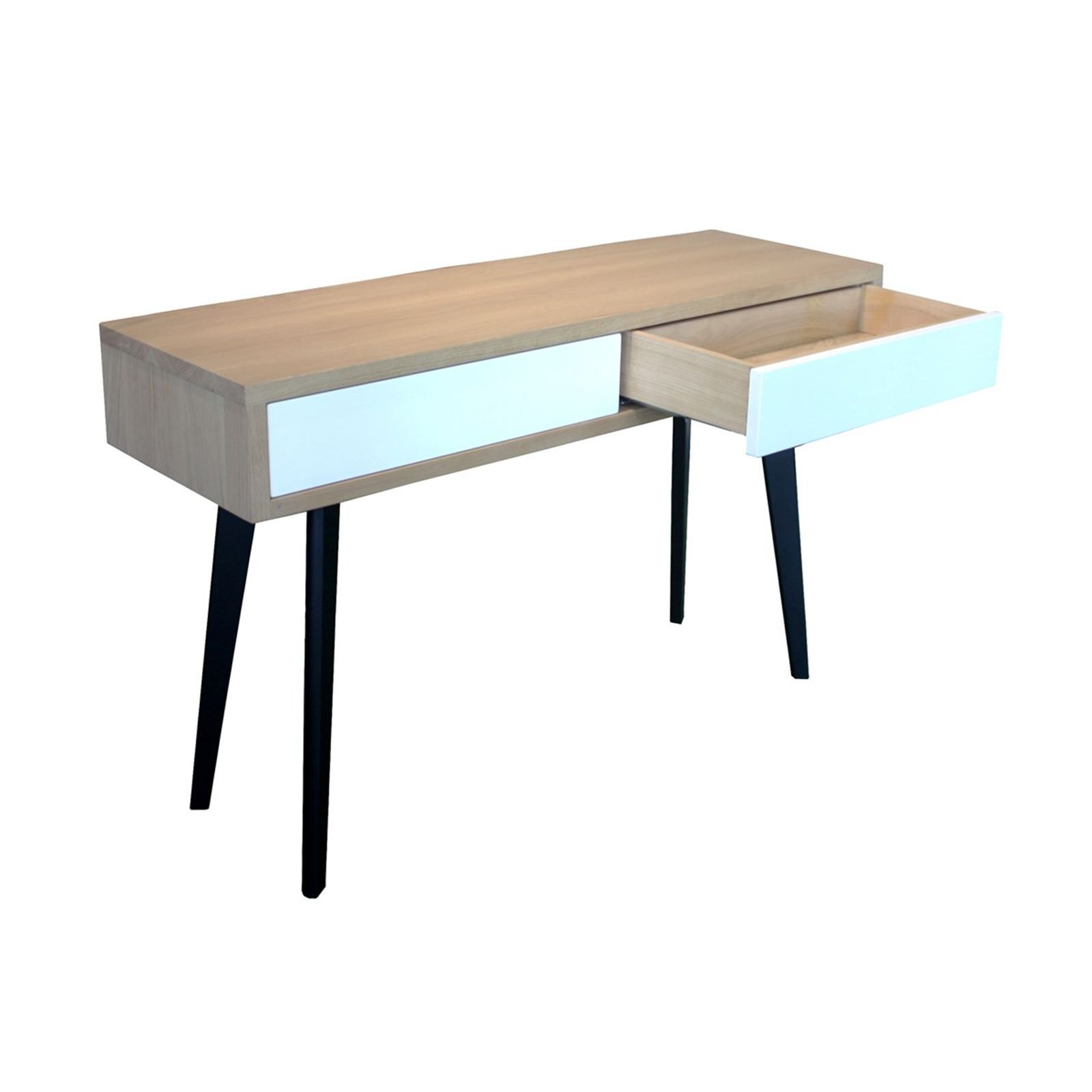 pirotais console 2 tiroirs style scandinave bicolore brandalley. Black Bedroom Furniture Sets. Home Design Ideas