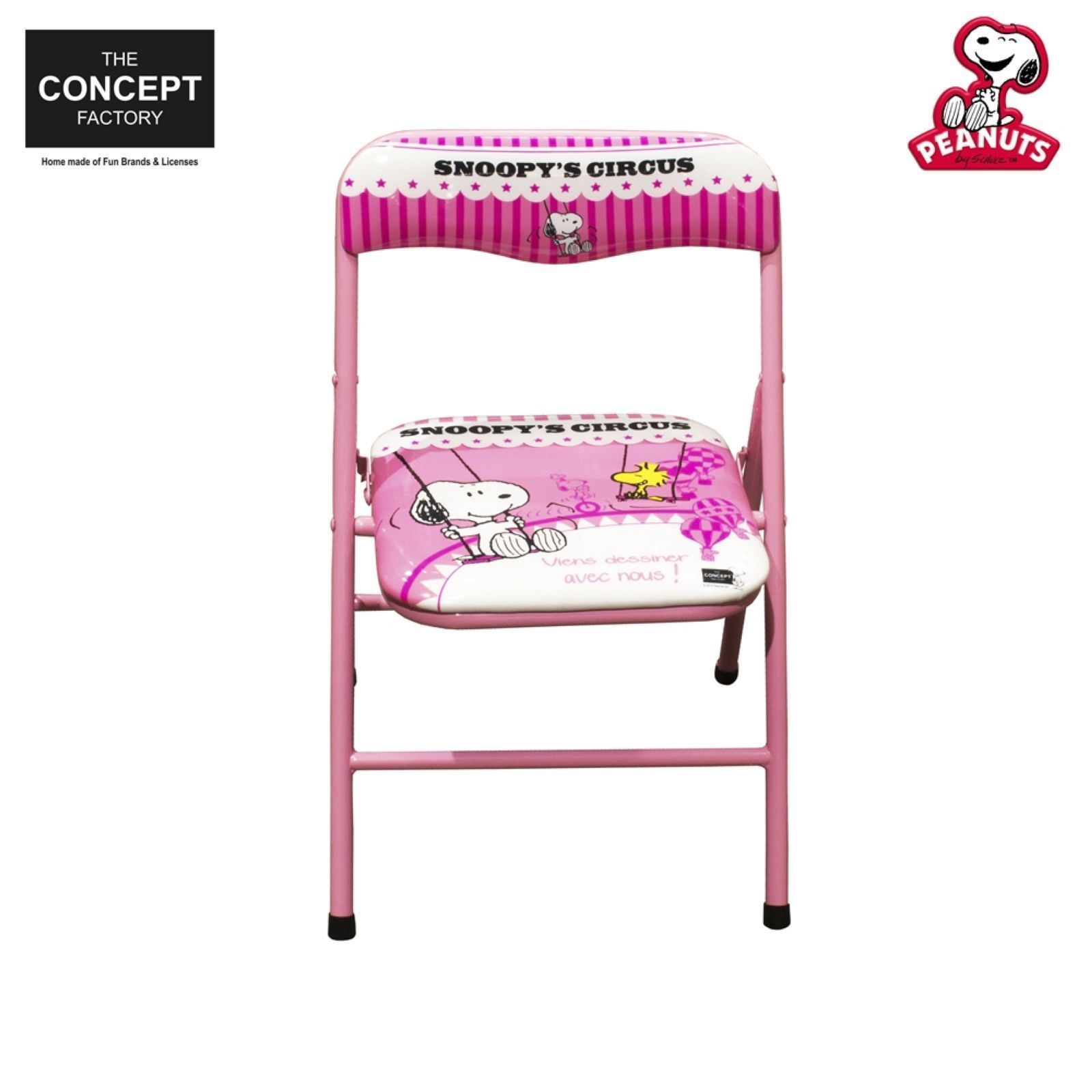 jeux 2 m mes snoopy chaise pliante rose brandalley. Black Bedroom Furniture Sets. Home Design Ideas