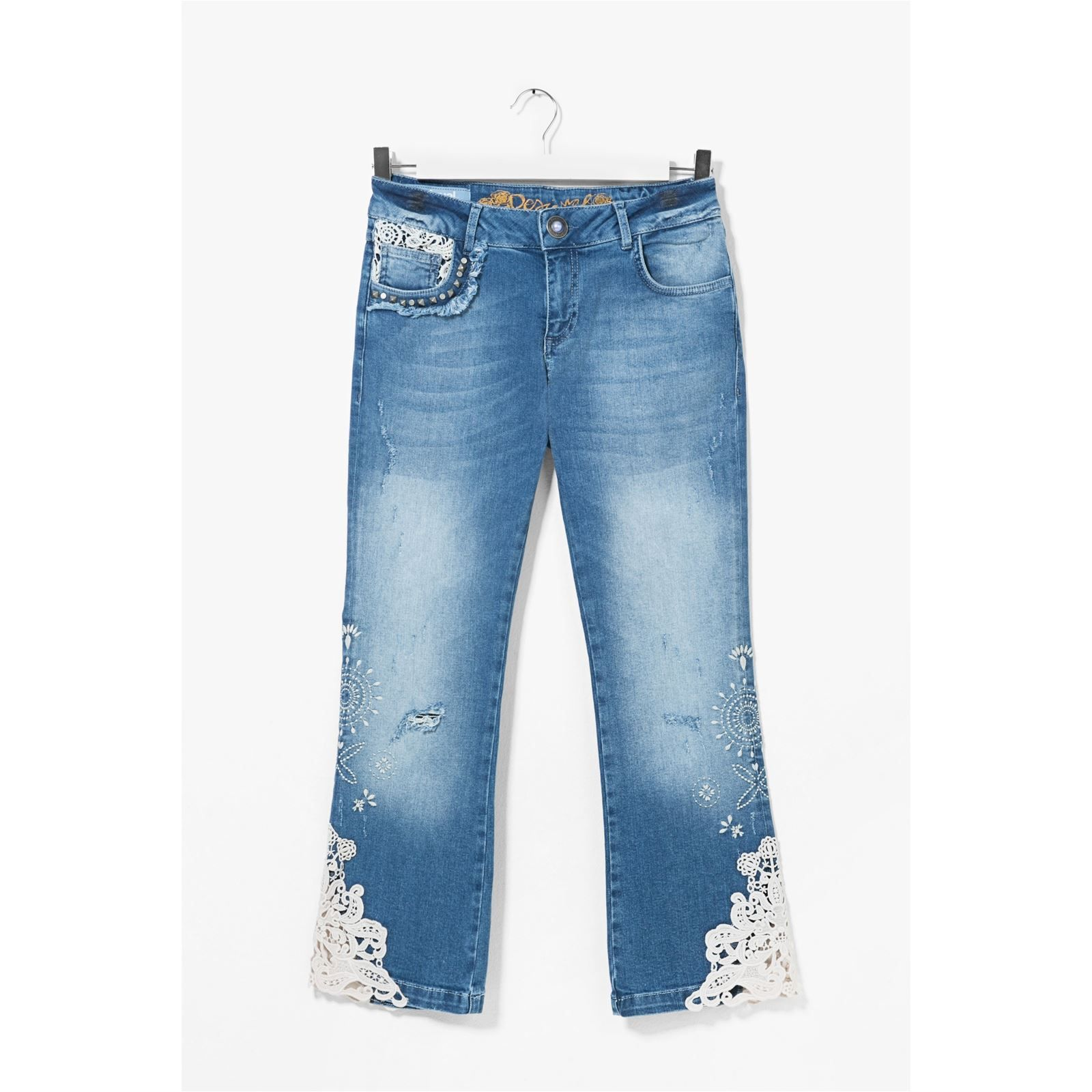 Desigual Light wash 3 - Jean droit - bleu