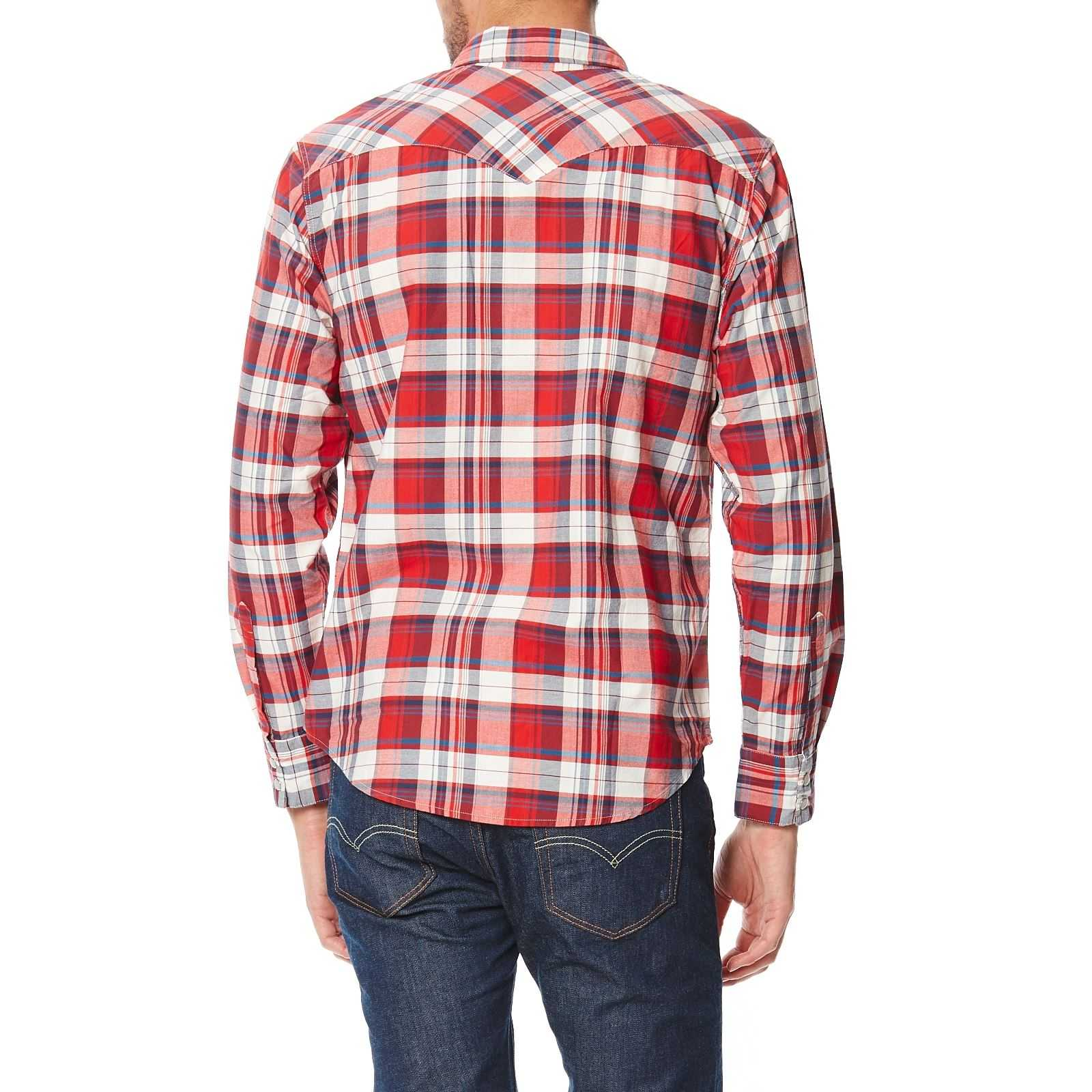 Western Rouge Barstow Longues Levi's Brandalley Manches Chemise 4HfqPwx