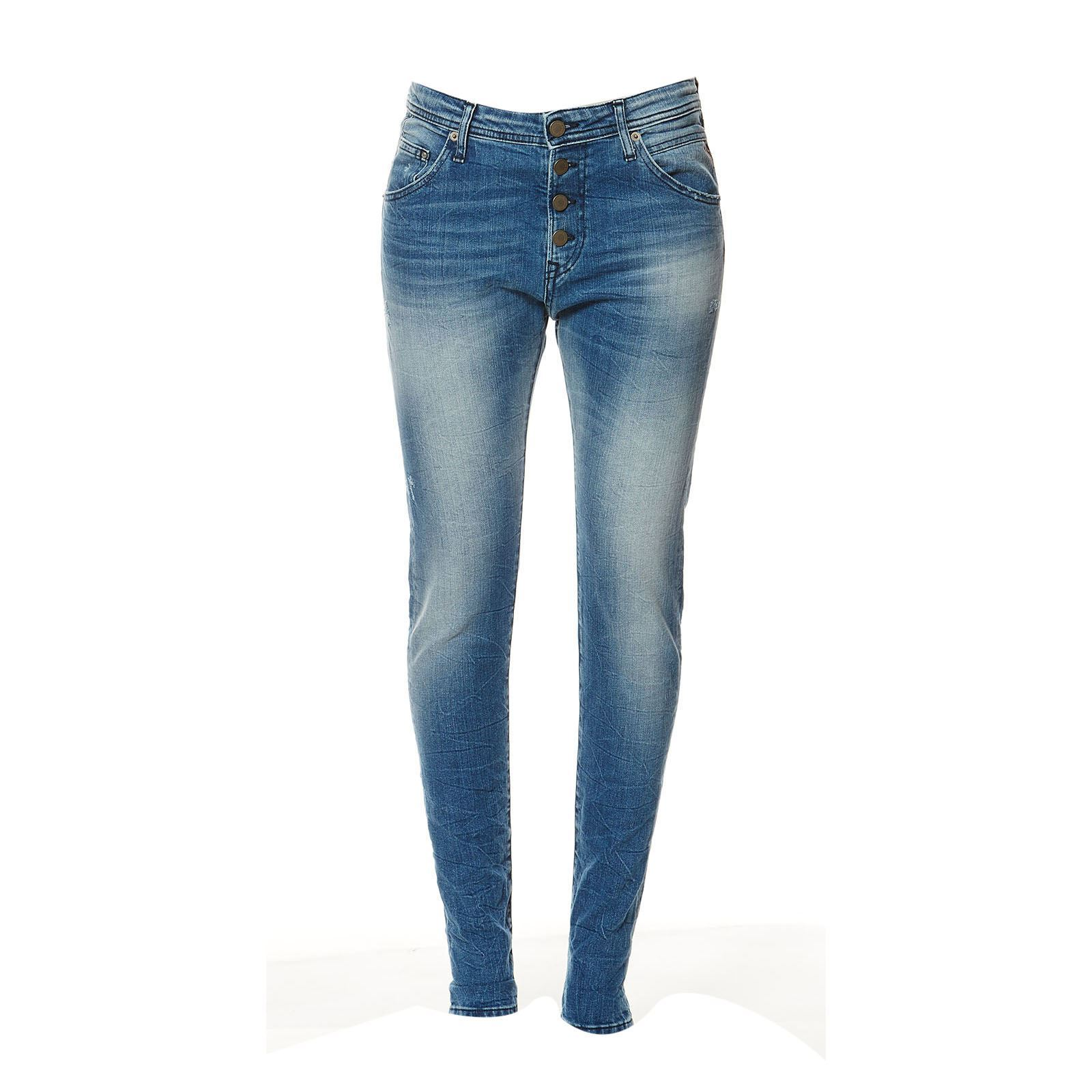 Replay Pilar - Jean boyfriend - denim bleu
