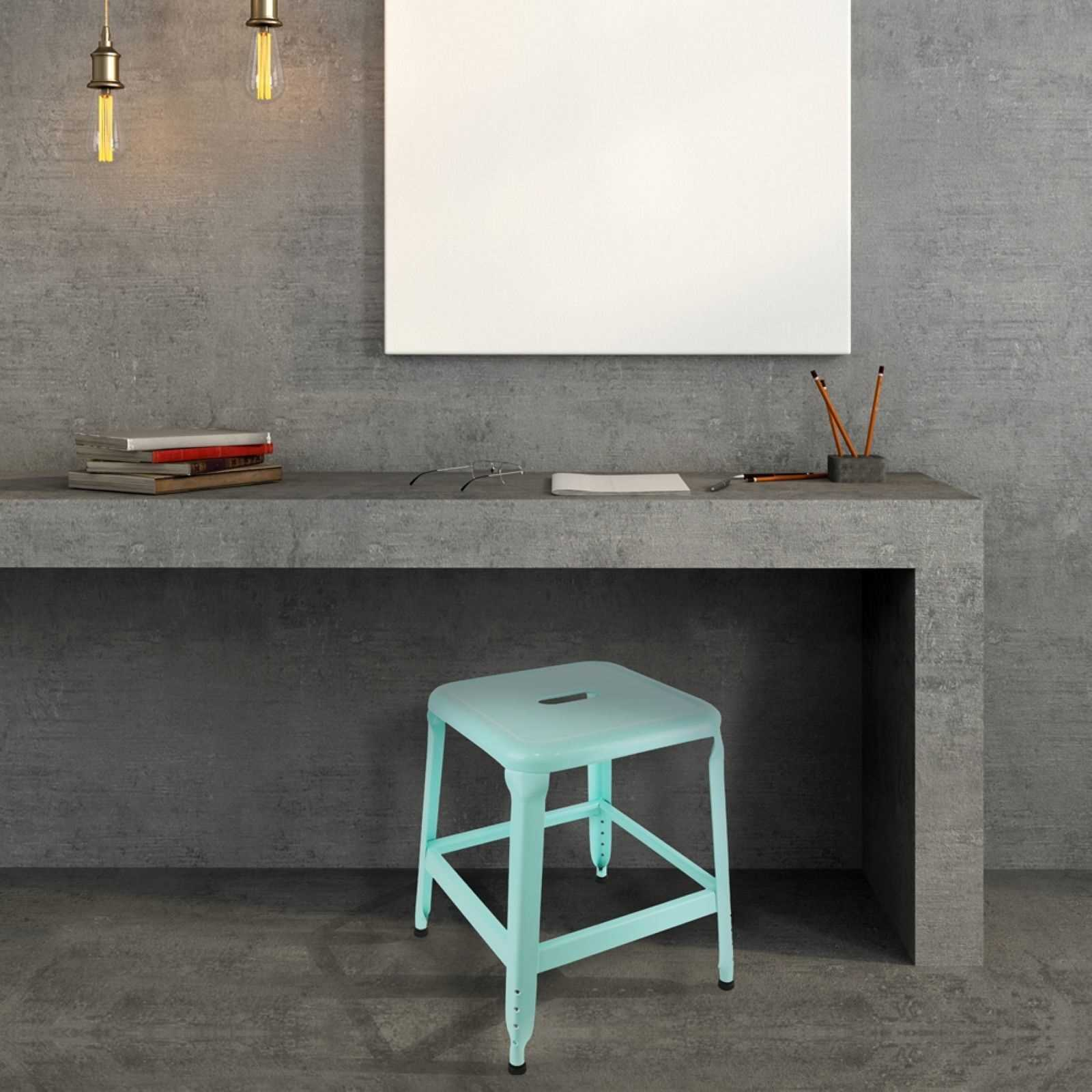 the home deco factory tabouret turquoise brandalley. Black Bedroom Furniture Sets. Home Design Ideas