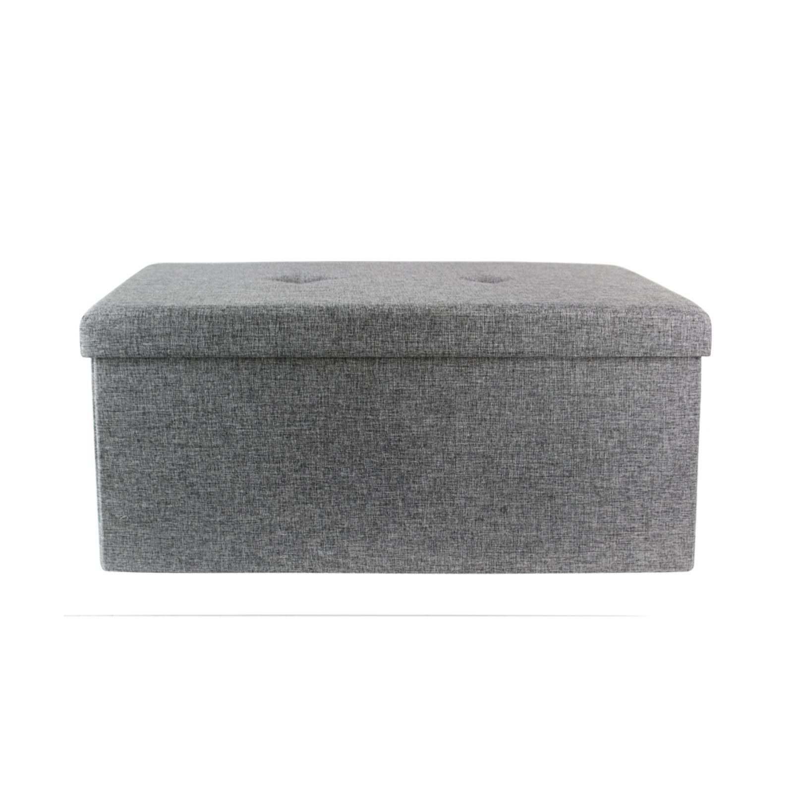 the home deco factory coffret pouf pliable gris brandalley. Black Bedroom Furniture Sets. Home Design Ideas