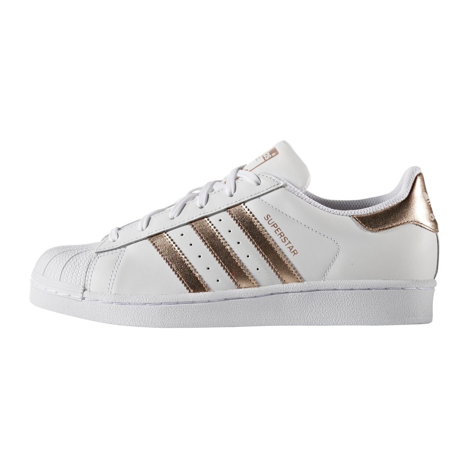 adidas originals superstar baskets en cuir blanc. Black Bedroom Furniture Sets. Home Design Ideas