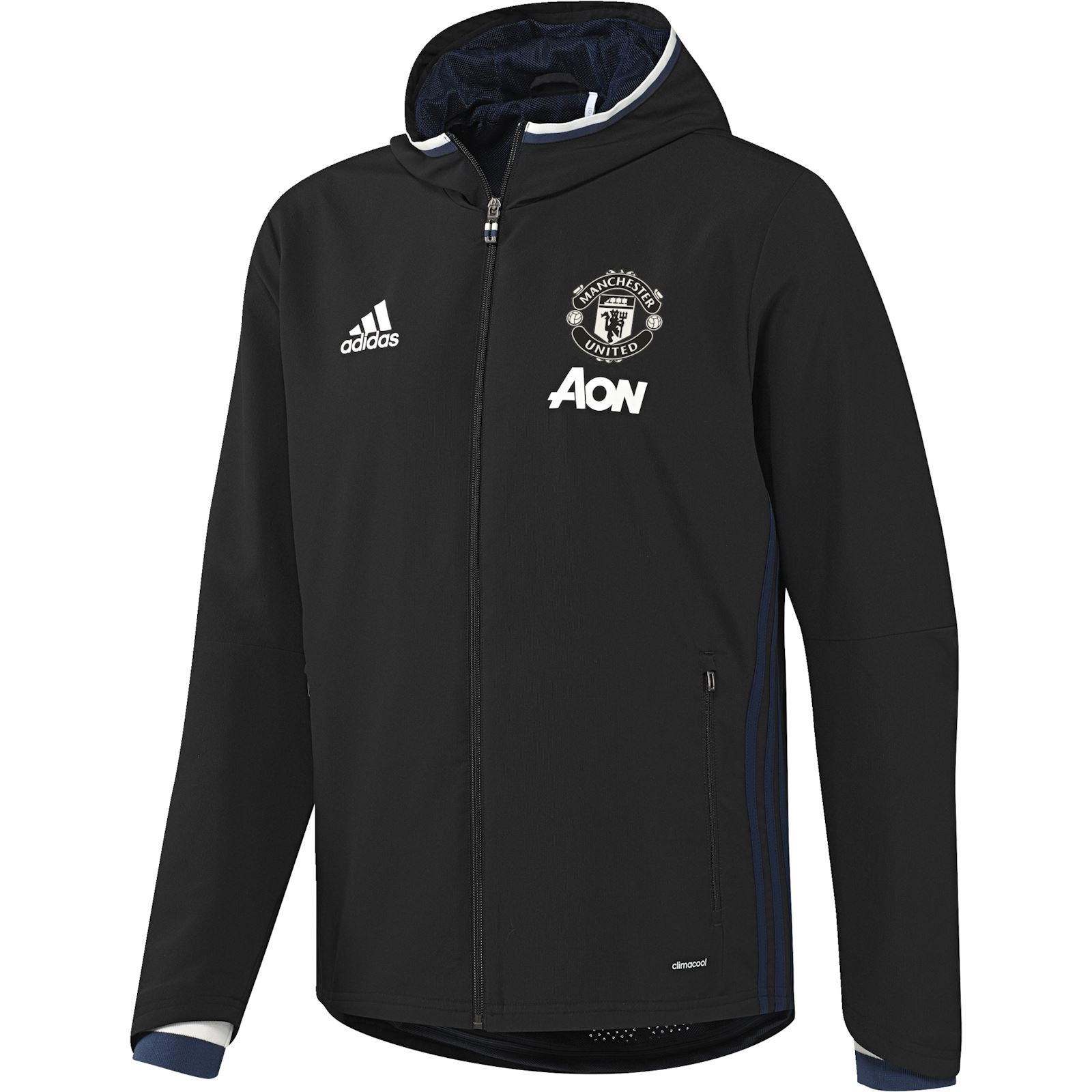 adidas performance manchester united sweat de football noir brandalley. Black Bedroom Furniture Sets. Home Design Ideas