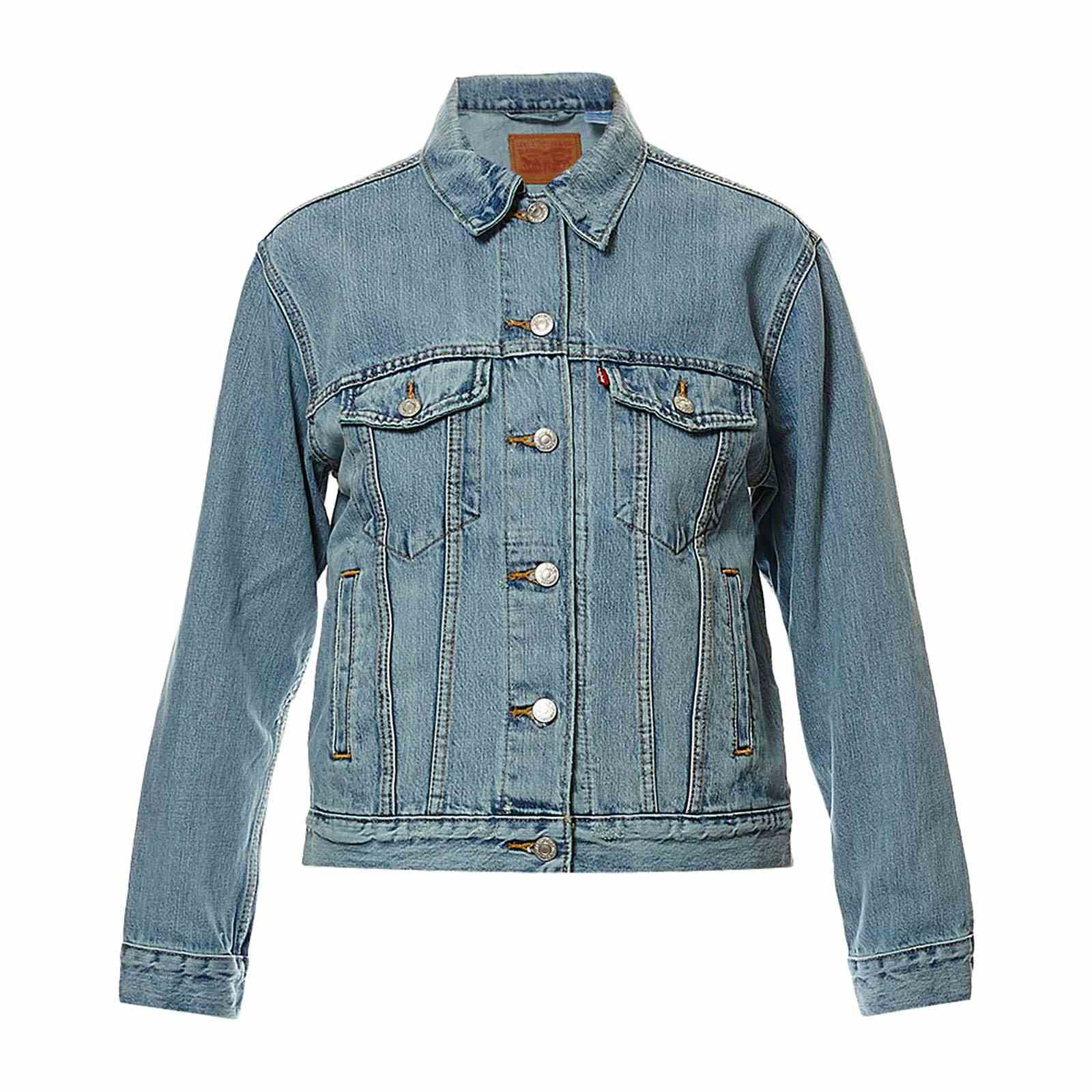 levi 39 s exboyfriend trucker veste en jean denim bleu brandalley. Black Bedroom Furniture Sets. Home Design Ideas
