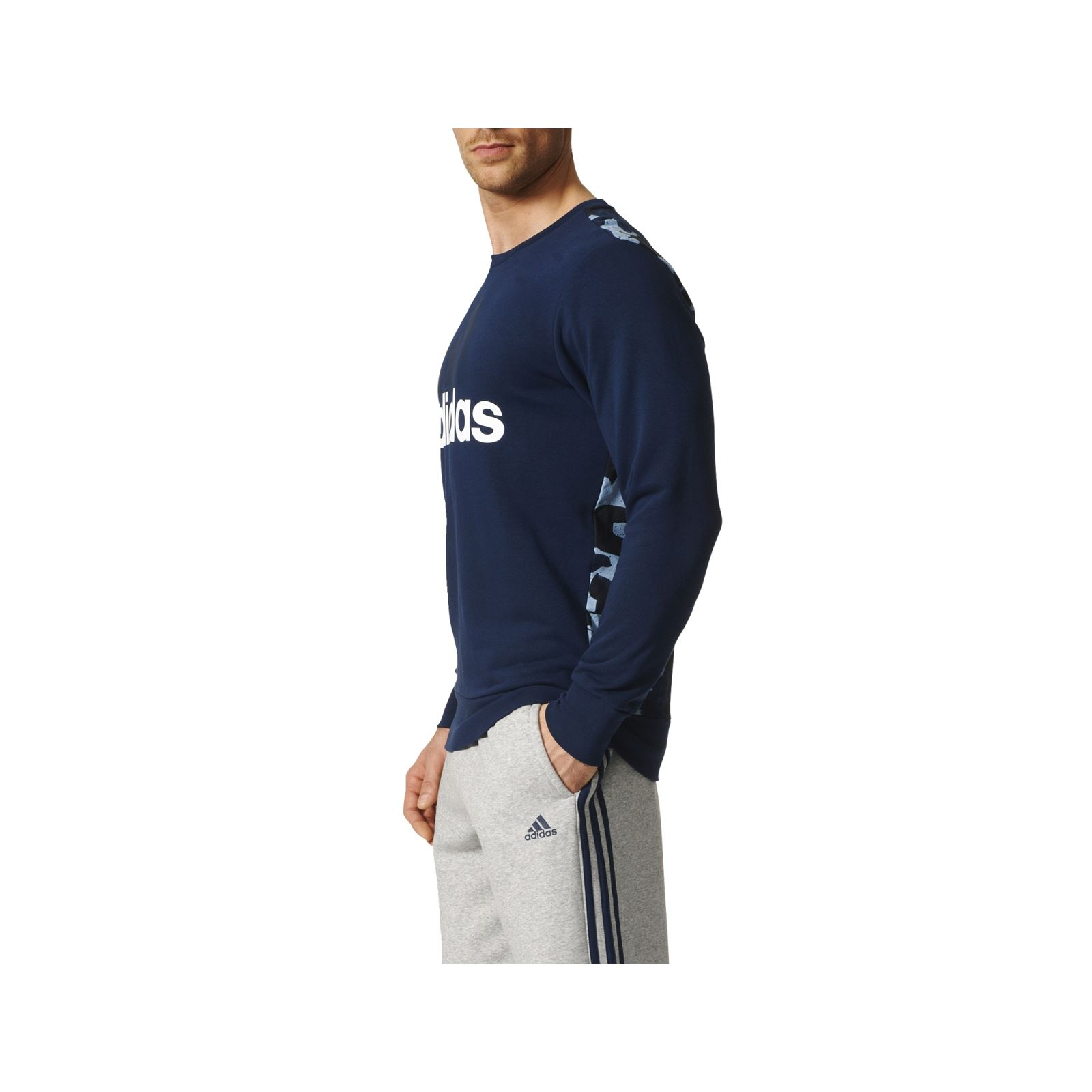 adidas performance sweat shirt bleu marine brandalley. Black Bedroom Furniture Sets. Home Design Ideas