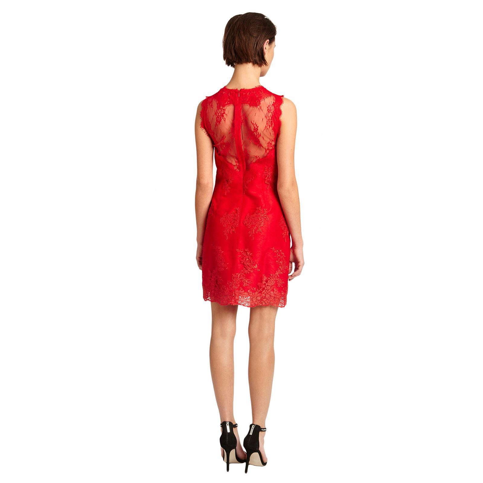 morgan joie robe en dentelle rouge brandalley