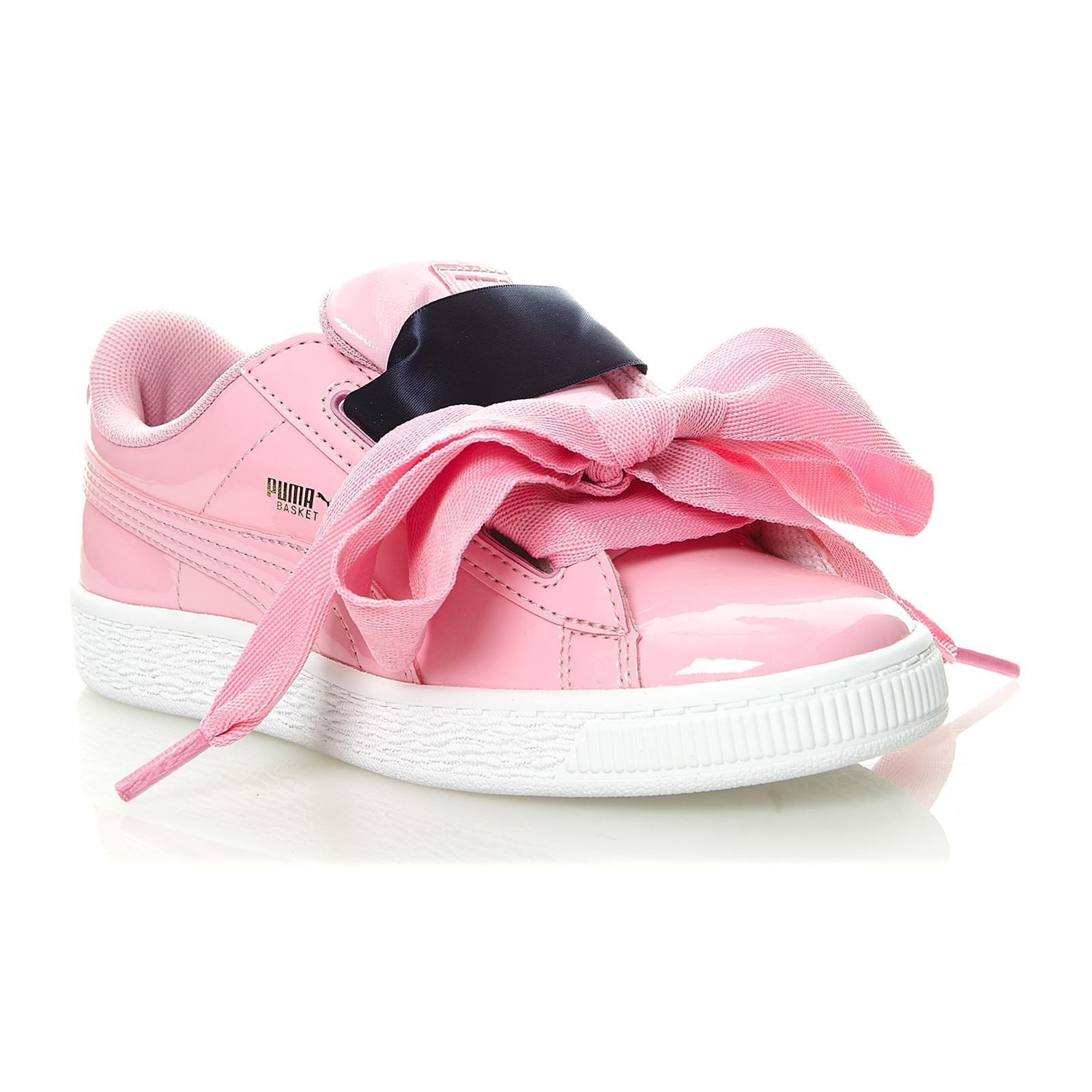 puma heart blanche noeud rose