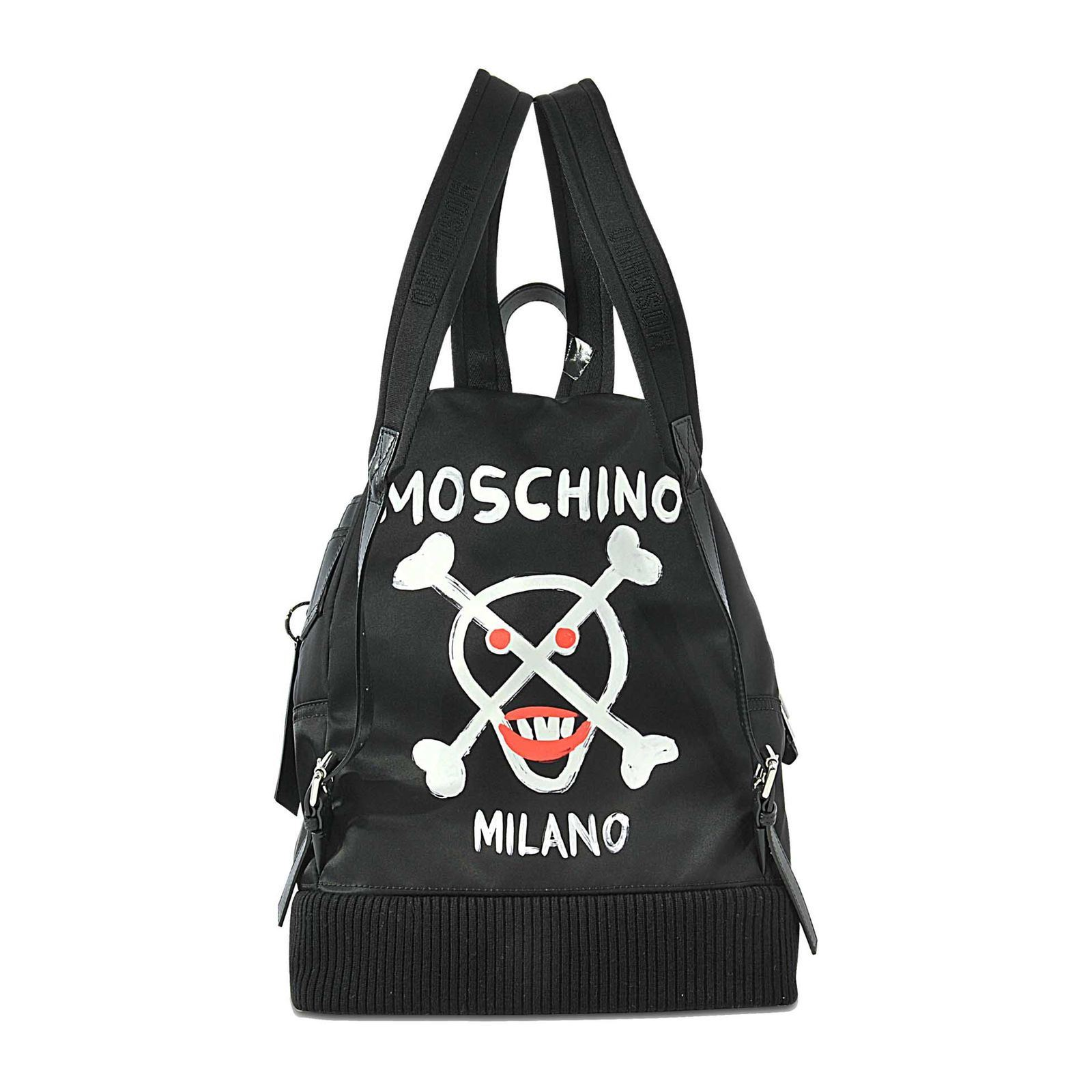 moschino sac dos noir brandalley. Black Bedroom Furniture Sets. Home Design Ideas