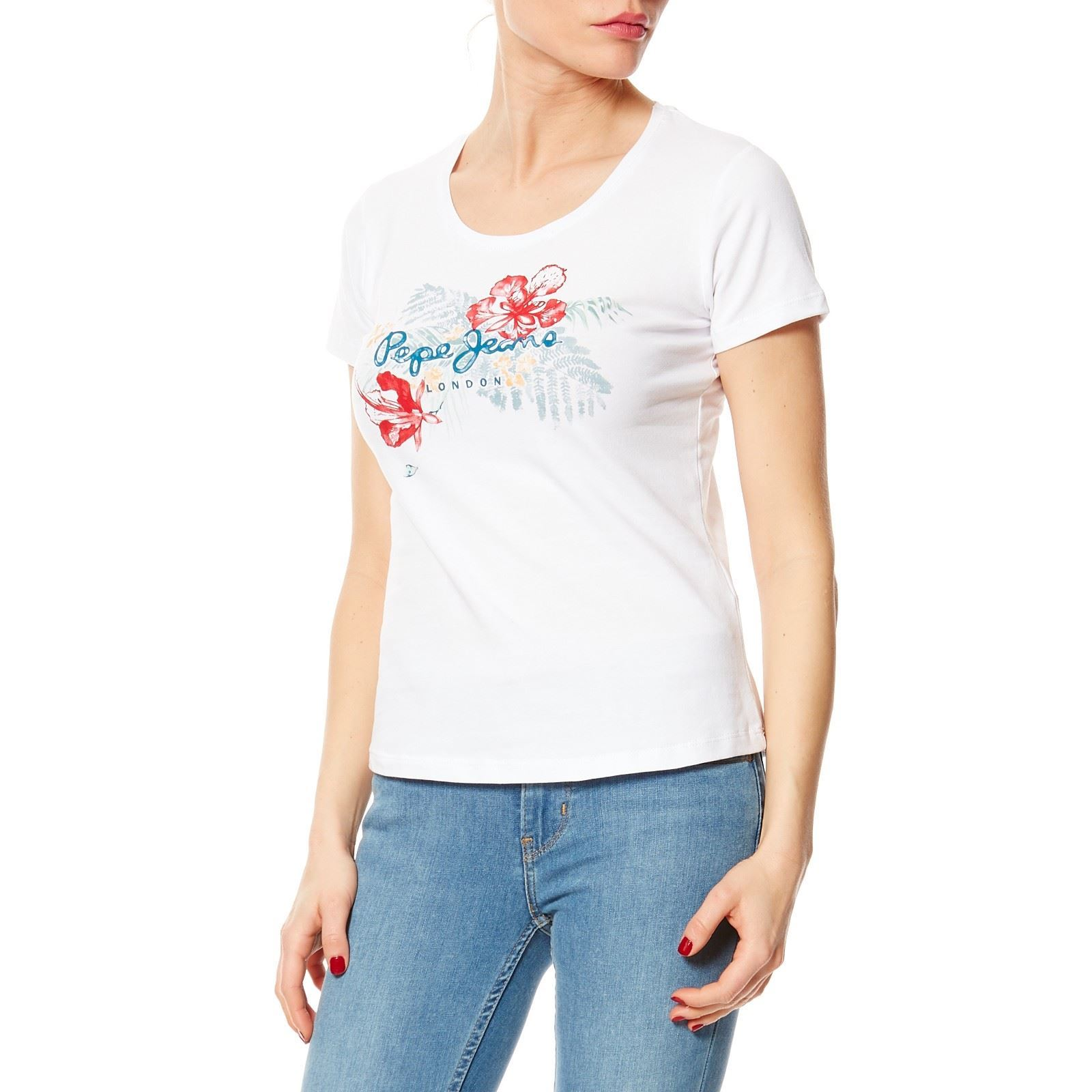 Pepe Jeans London amber - T-shirt manches courtes - blanc