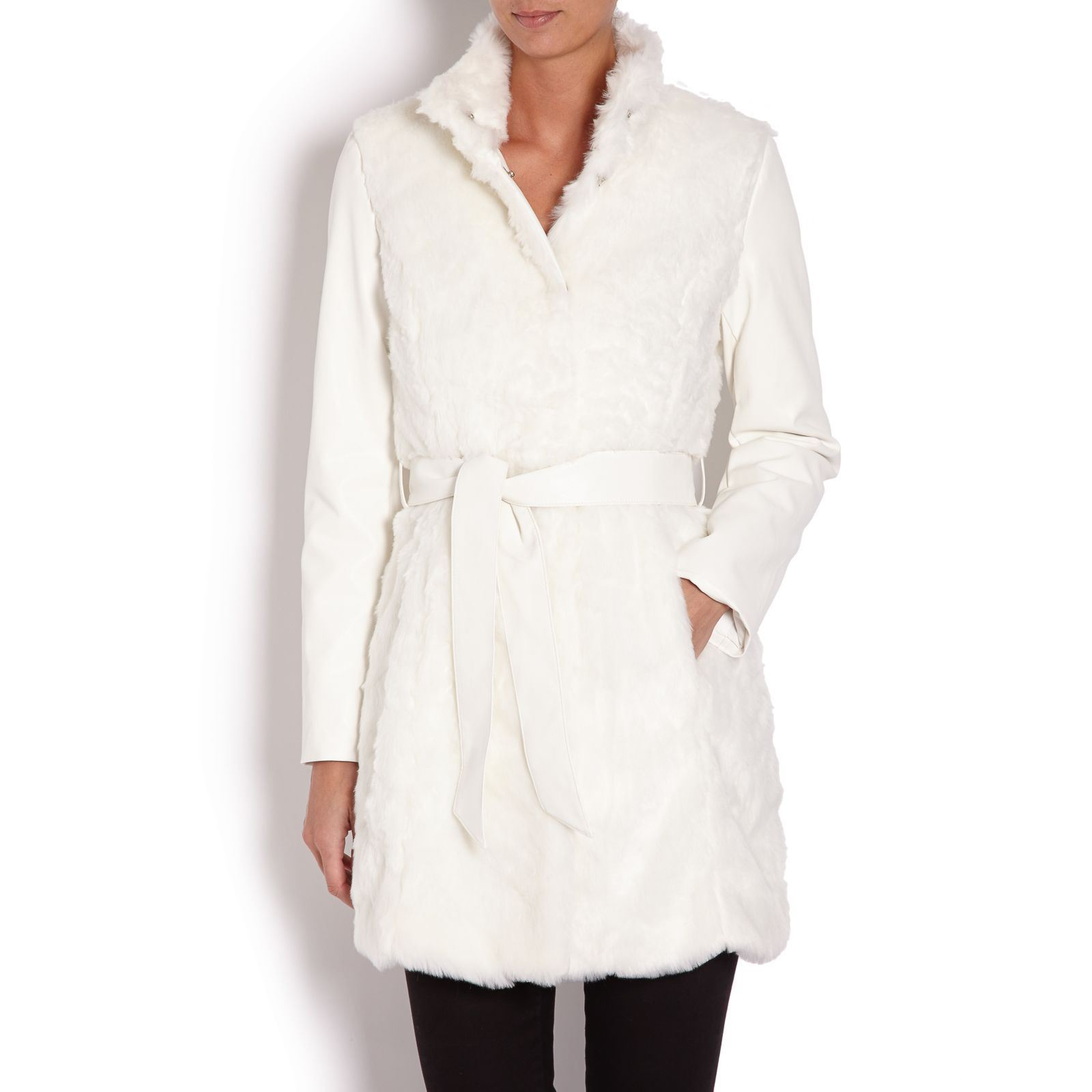 4973e81a47b72 Morgan Manteau - blanc   BrandAlley