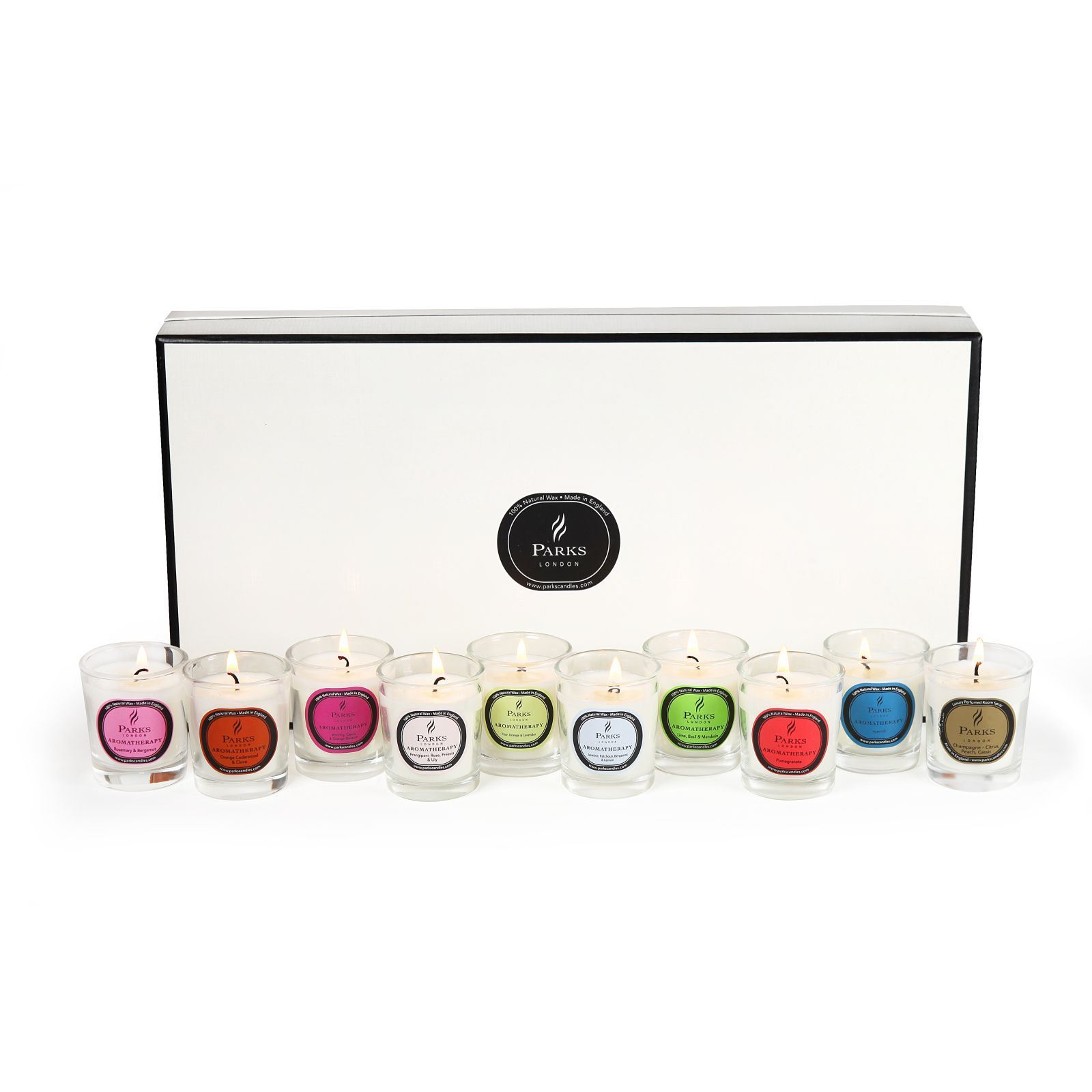 parks london coffret de 10 bougies parfum es aromatheraphy brandalley. Black Bedroom Furniture Sets. Home Design Ideas