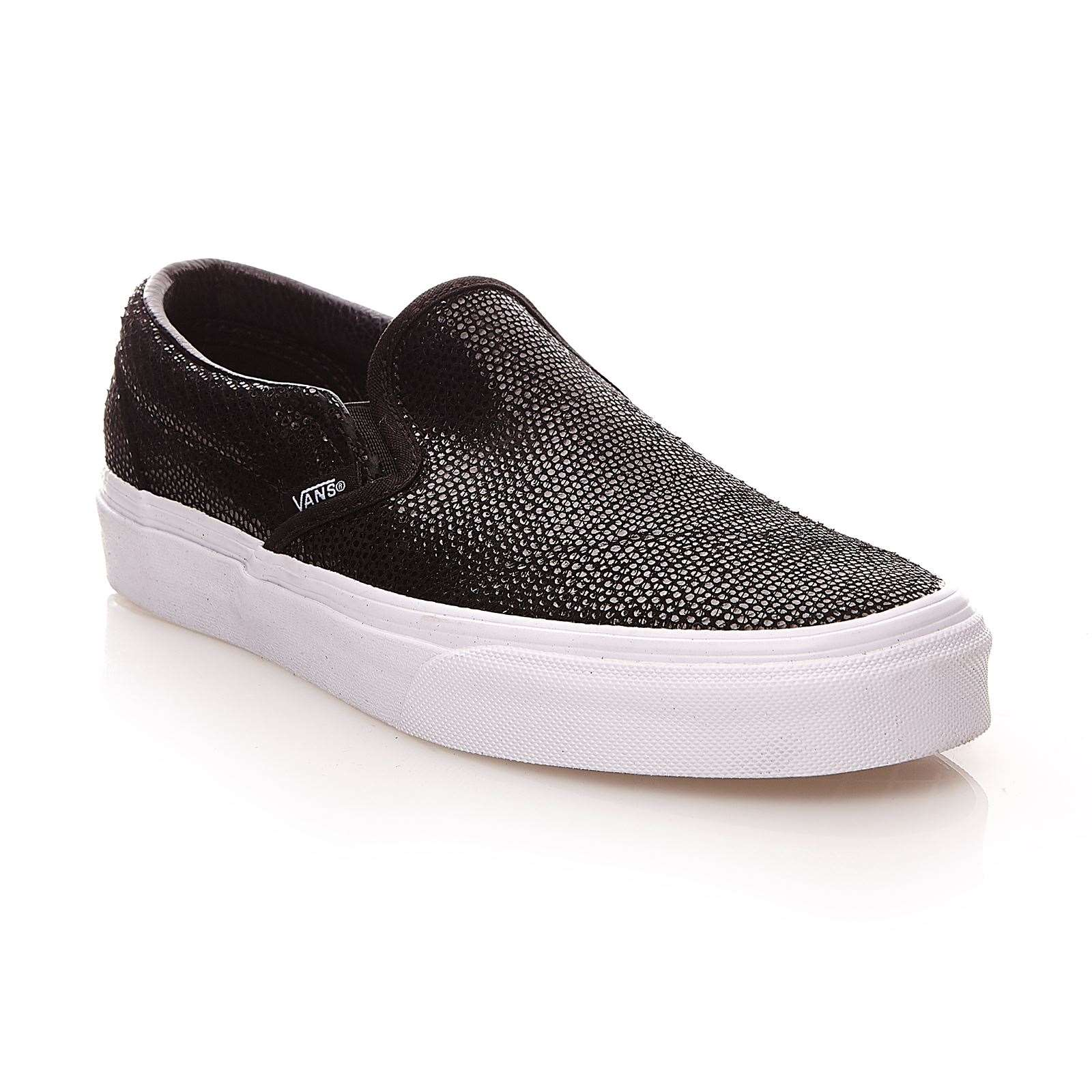 vans u classic slip on en cuir noir brandalley. Black Bedroom Furniture Sets. Home Design Ideas