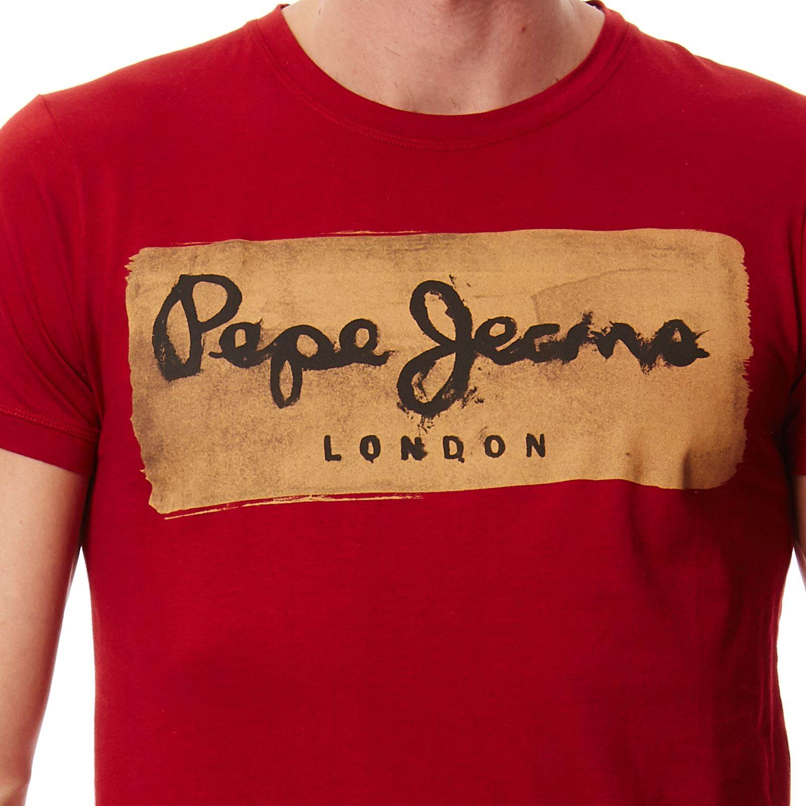 pepe jeans london charing t shirt manches courtes rouge brandalley. Black Bedroom Furniture Sets. Home Design Ideas
